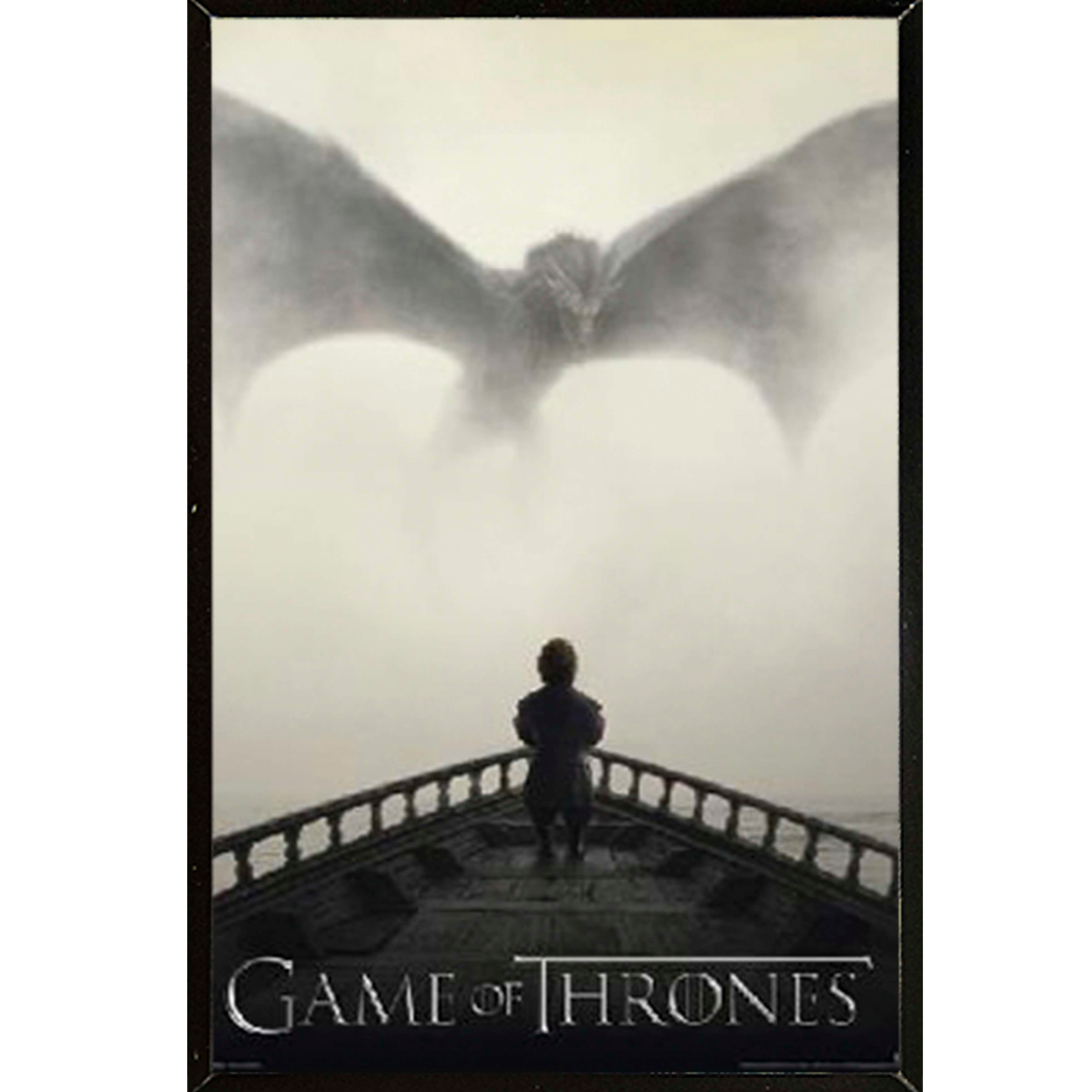 Shop Game of Thrones - Lion & Dragon Poster With Choice of Frame ...