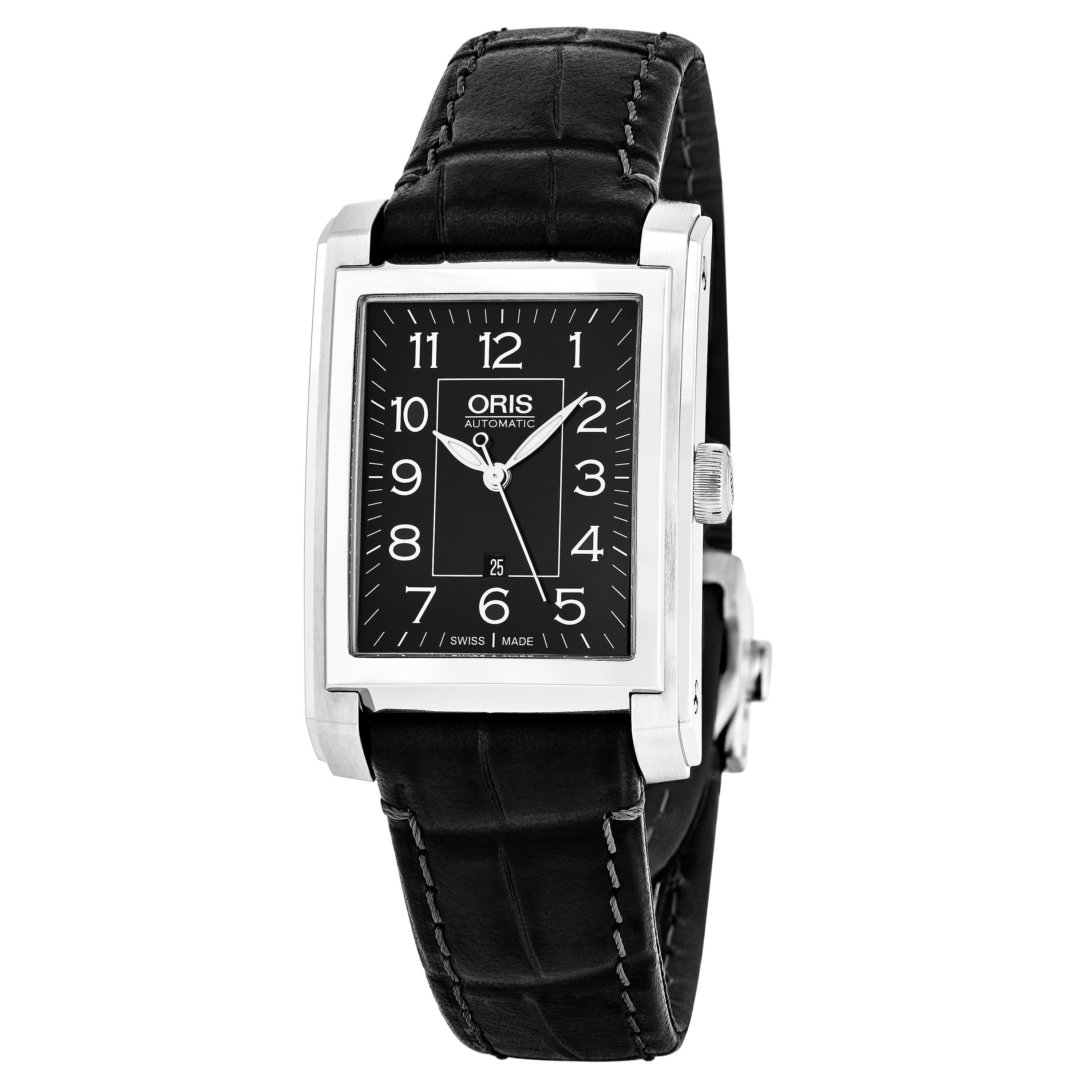 rectangular watches watch dial men steel silver stainless s oris