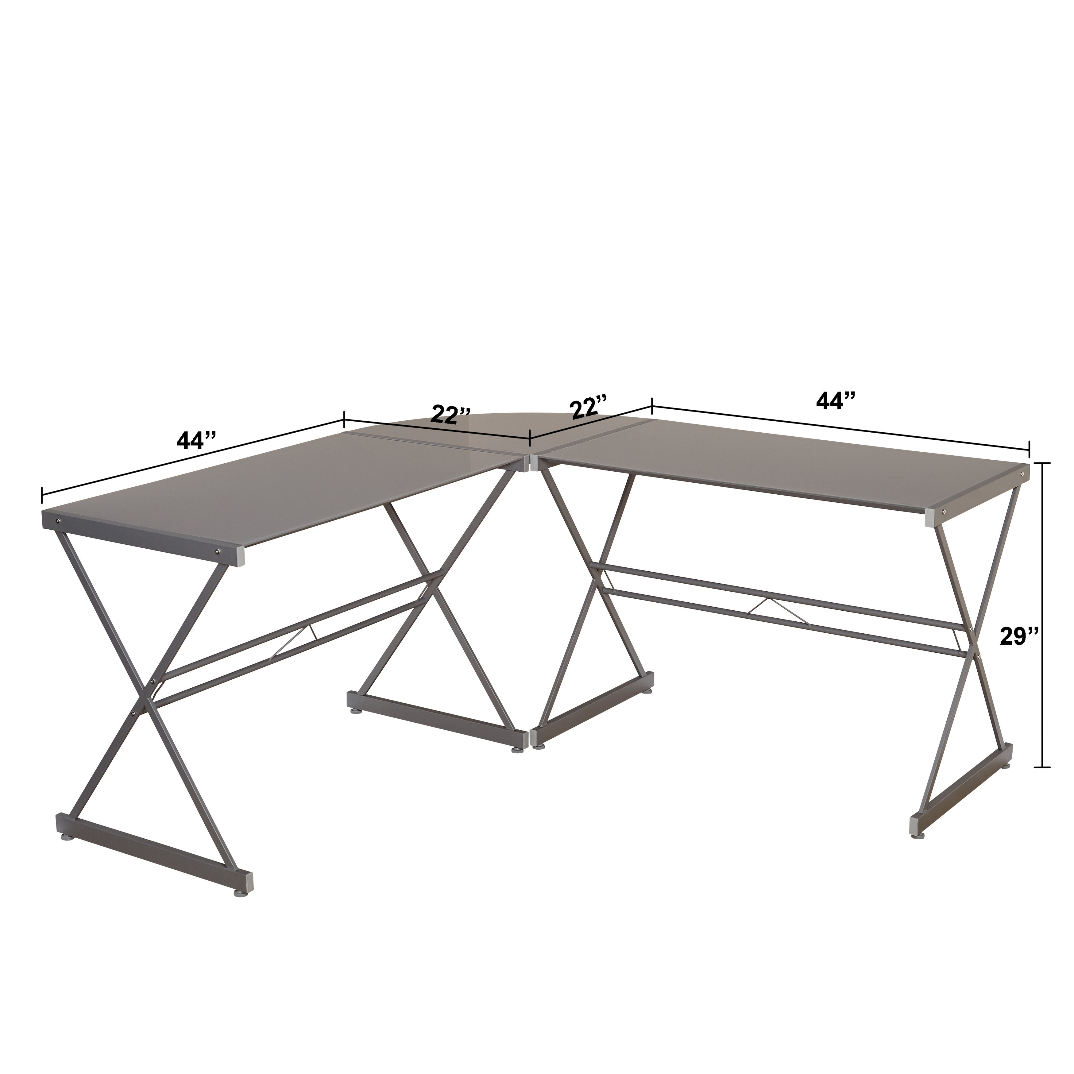 Awesome Shop Simple Living Alex L Shaped Desk   On Sale   Free Shipping Today    Overstock.com   17128481