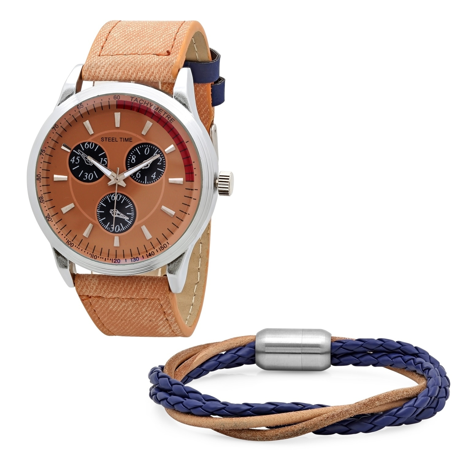 dial men multifunction steiner s pin watch bracelet august mens gradient