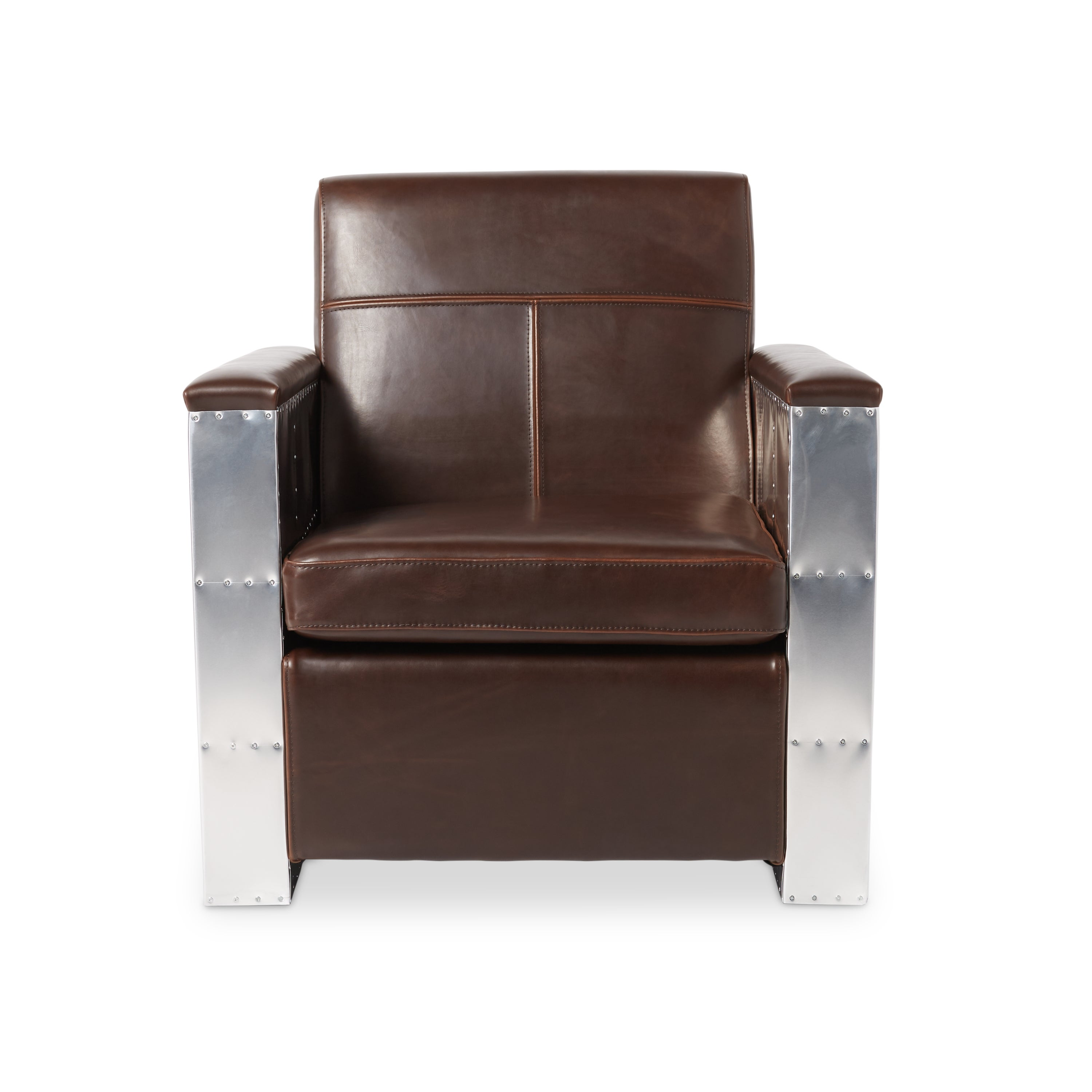 Shop Jasper Laine Madison Avenue Vintage Tobacco Leather Chair   Free  Shipping Today   Overstock.com   17135650