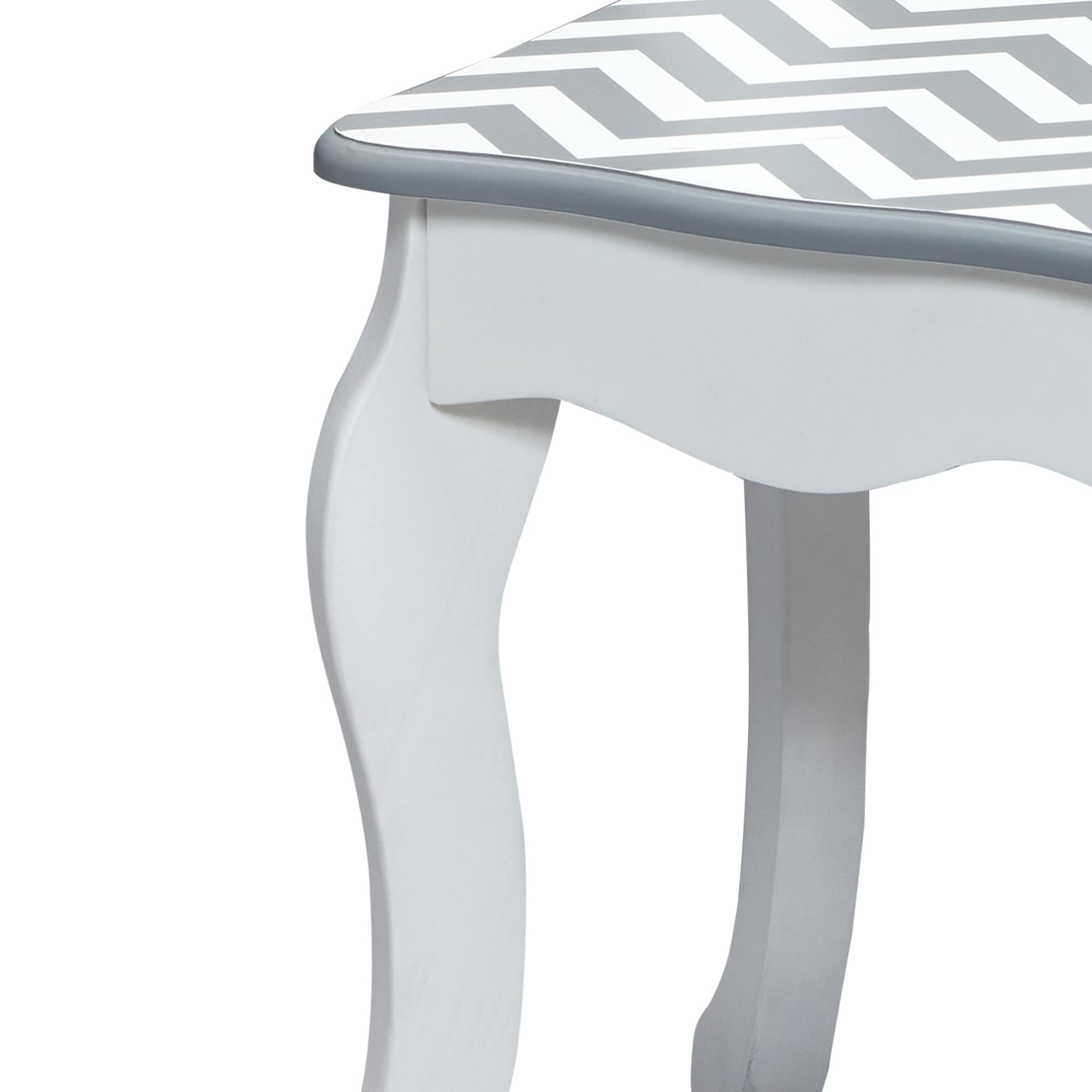 Shop Teamson Kids - Fashion Prints Vanity Table   Stool Set - Grey Chevron  - Free Shipping Today - Overstock - 17136459 5f1127833