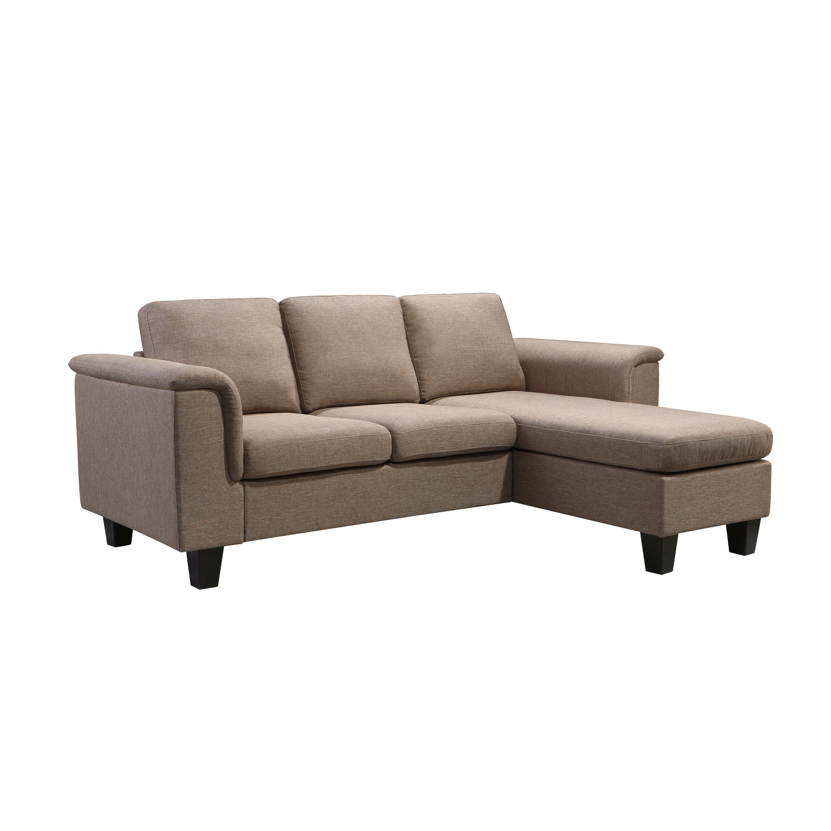 Shop Kinnect York Linen 2 Seat Sofa And Chaise   Free Shipping Today    Overstock.com   17138110