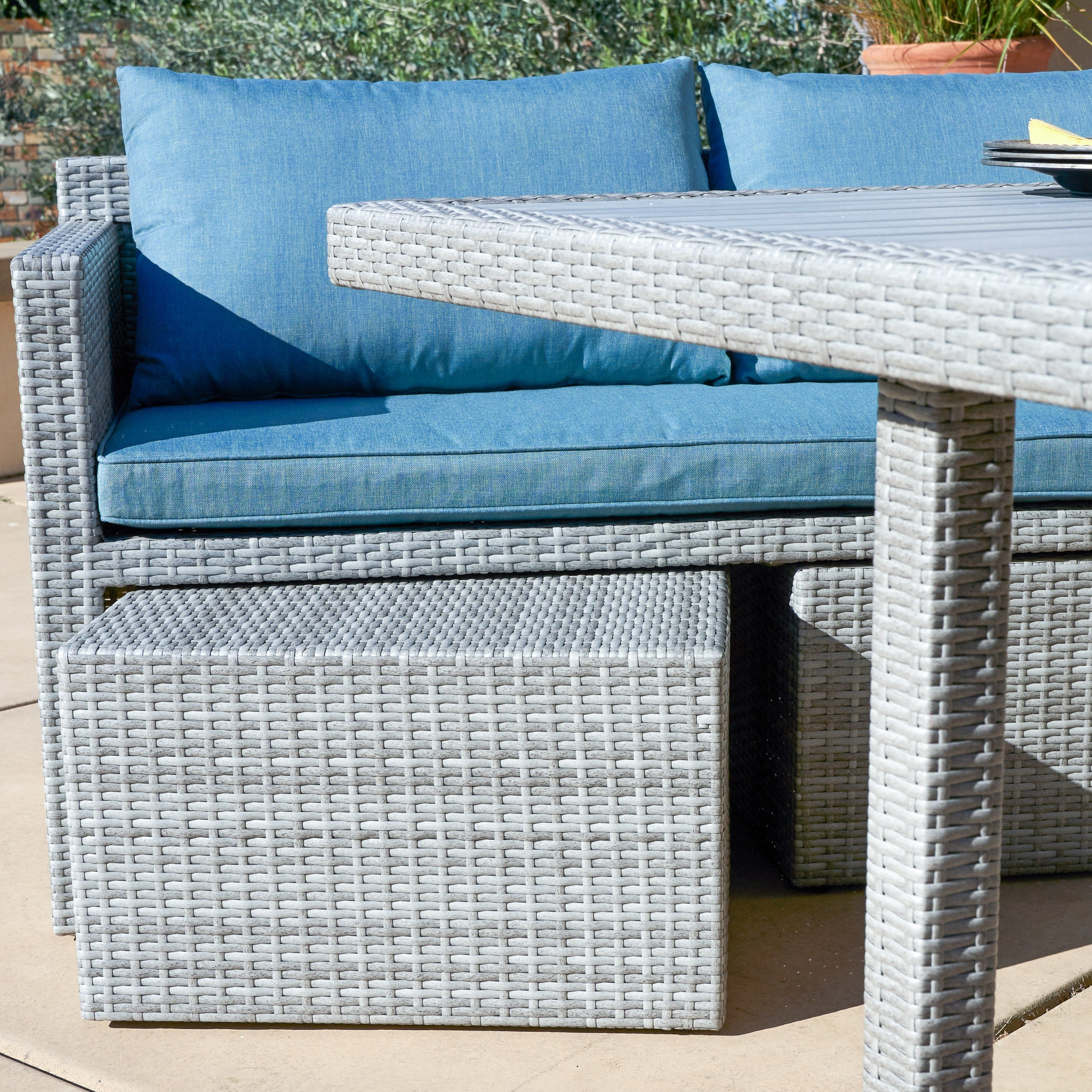Shop Corvus Martinka 7-piece Grey Wicker Patio Dining Set - On Sale ...