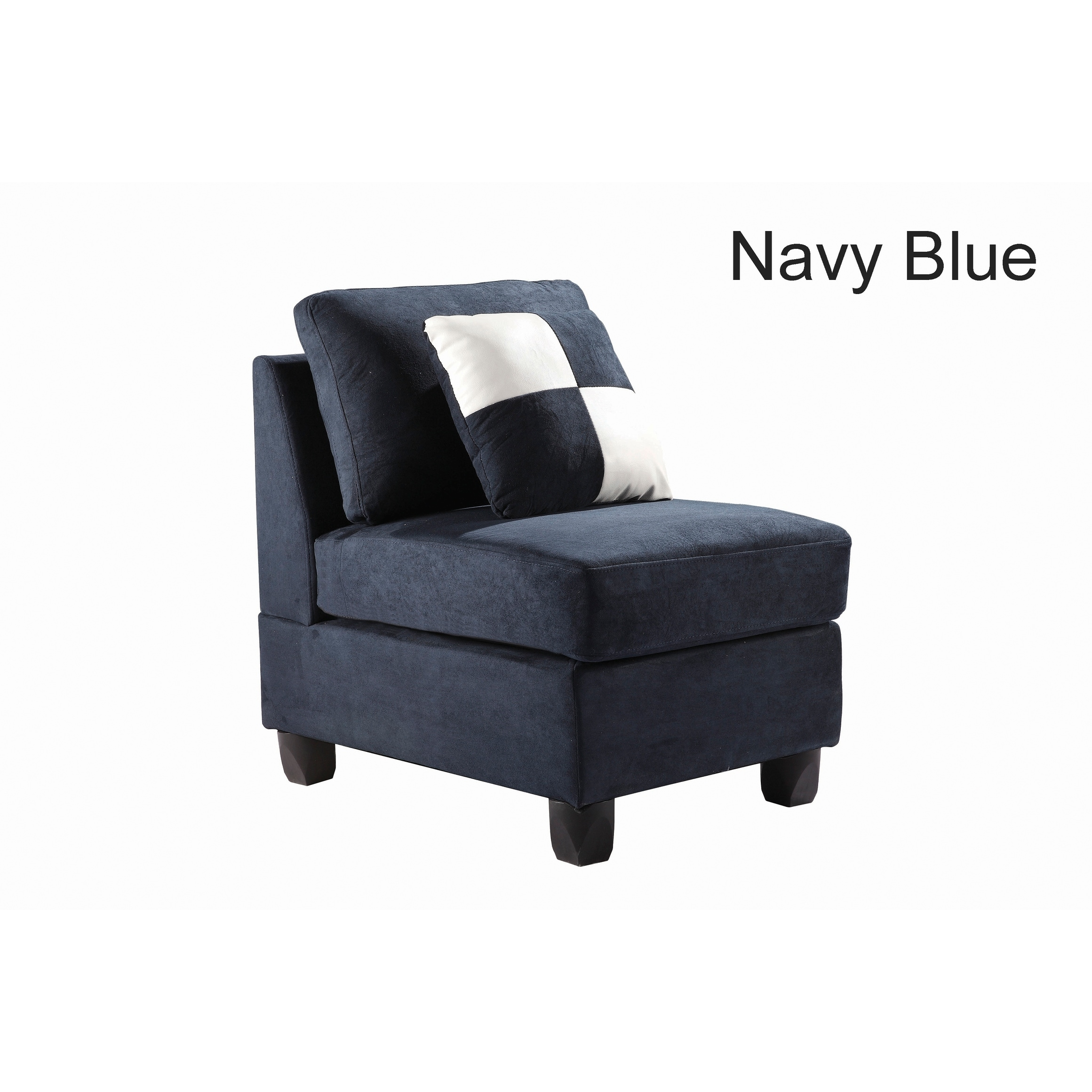Shop lyke home contemporary micro suede armless chair free shipping today overstock com 17138986