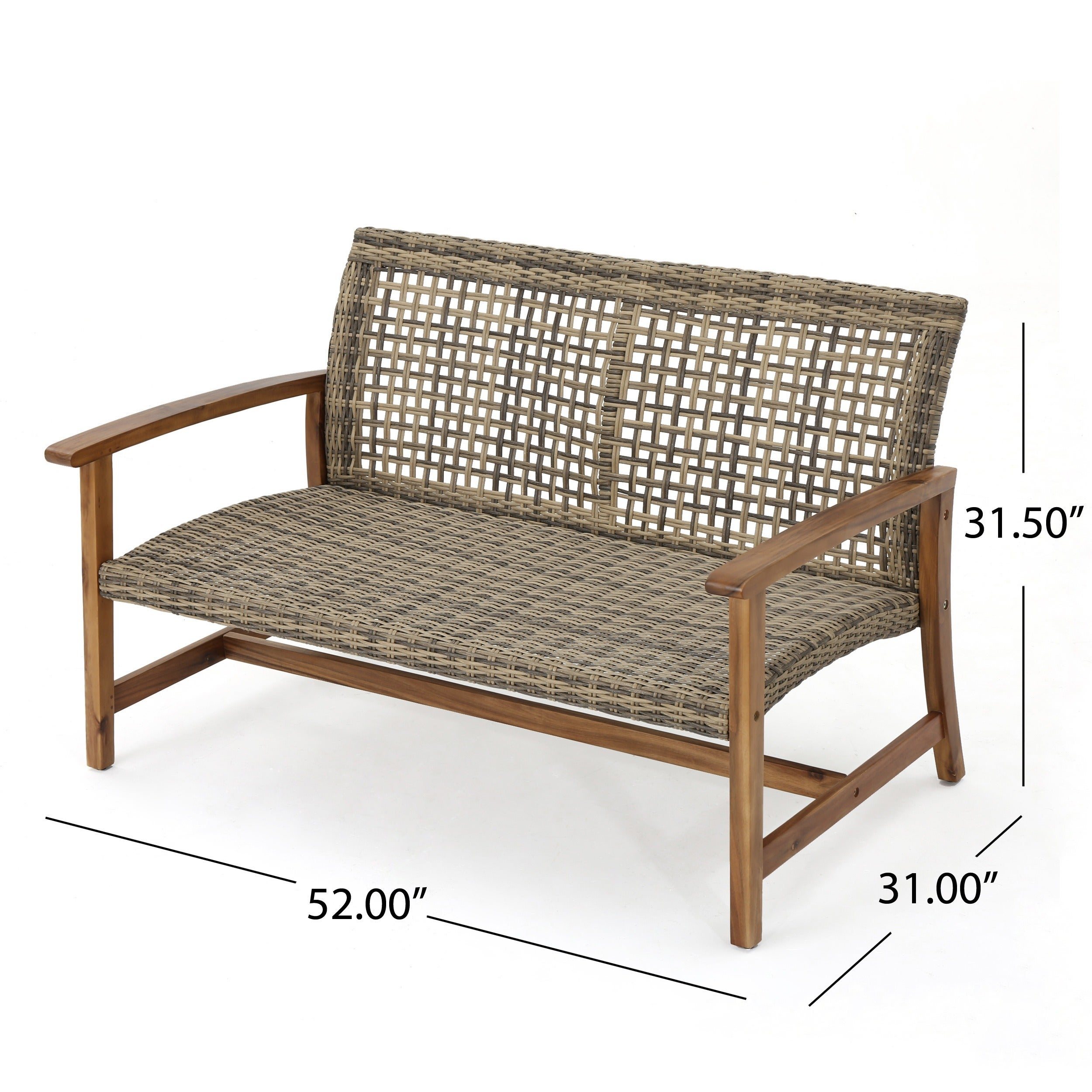 Hampton Outdoor 7 Piece Mid Century Wicker Chat Set By Christopher Knight  Home   Free Shipping Today   Overstock   23420577