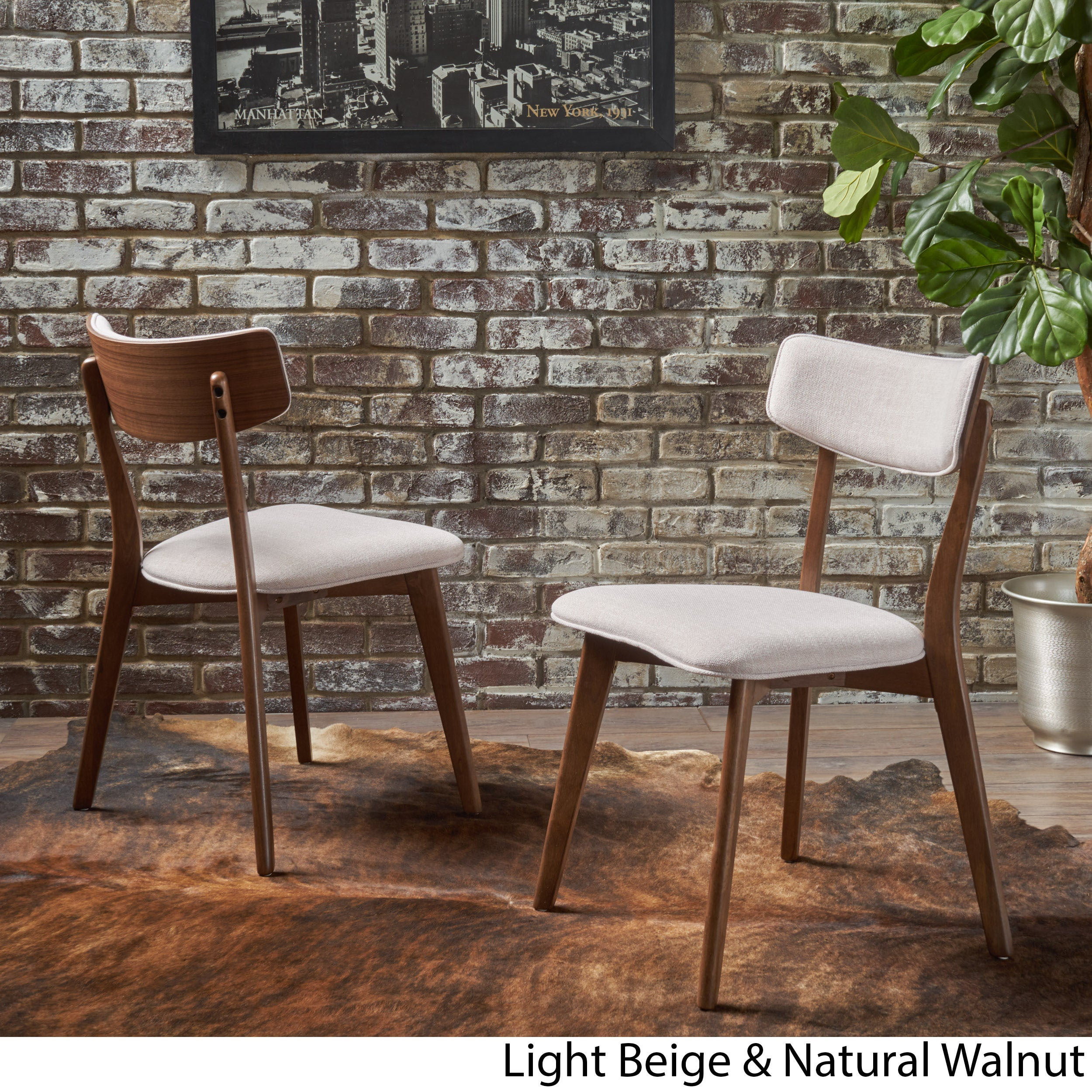 77b7aaacd426 Chazz Mid-century Fabric Dining Chair by Christopher Knight Home (Set of 2)