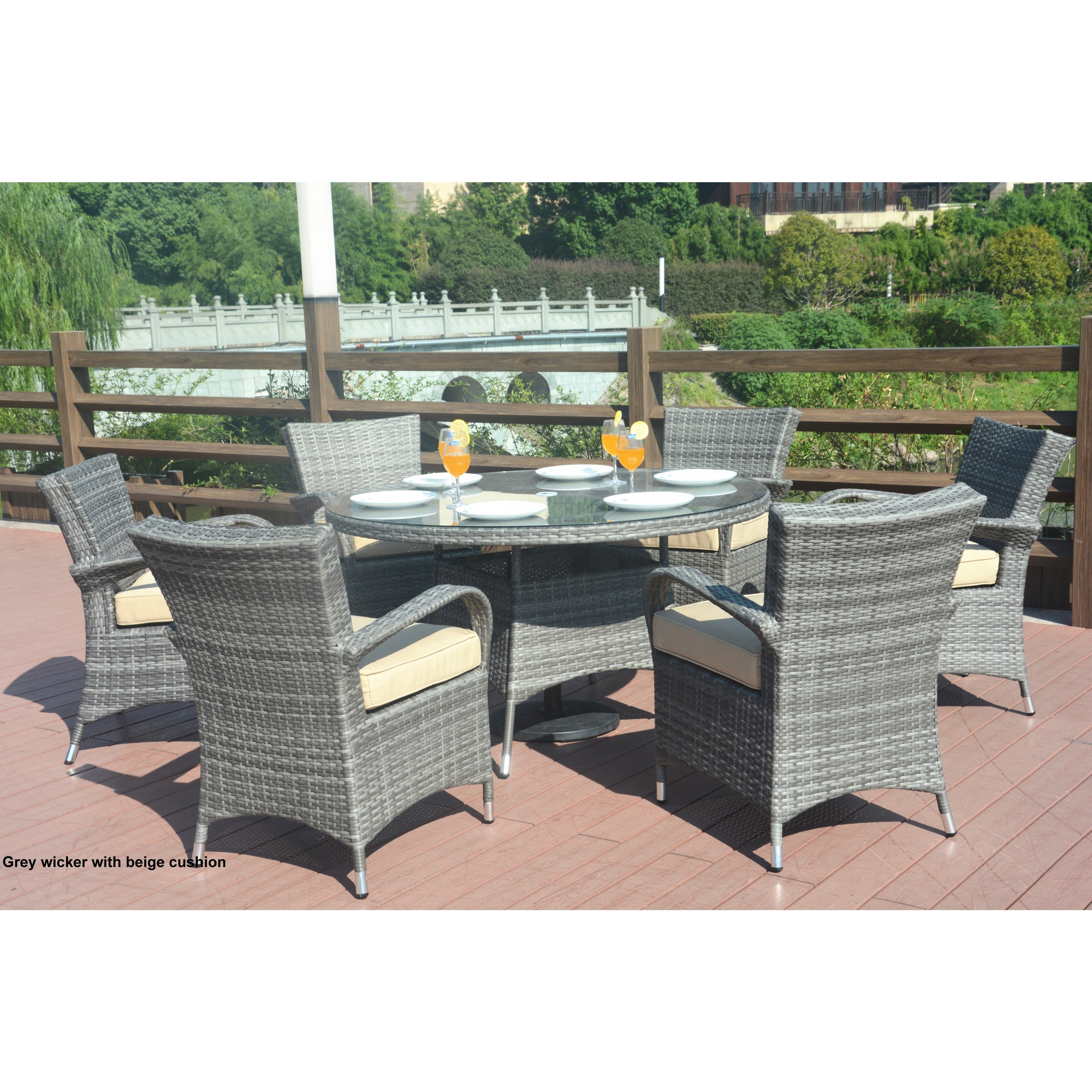 Direct Wicker Eton Chair 7 Piece Rattan Dining Set Ships To Canada 17157024