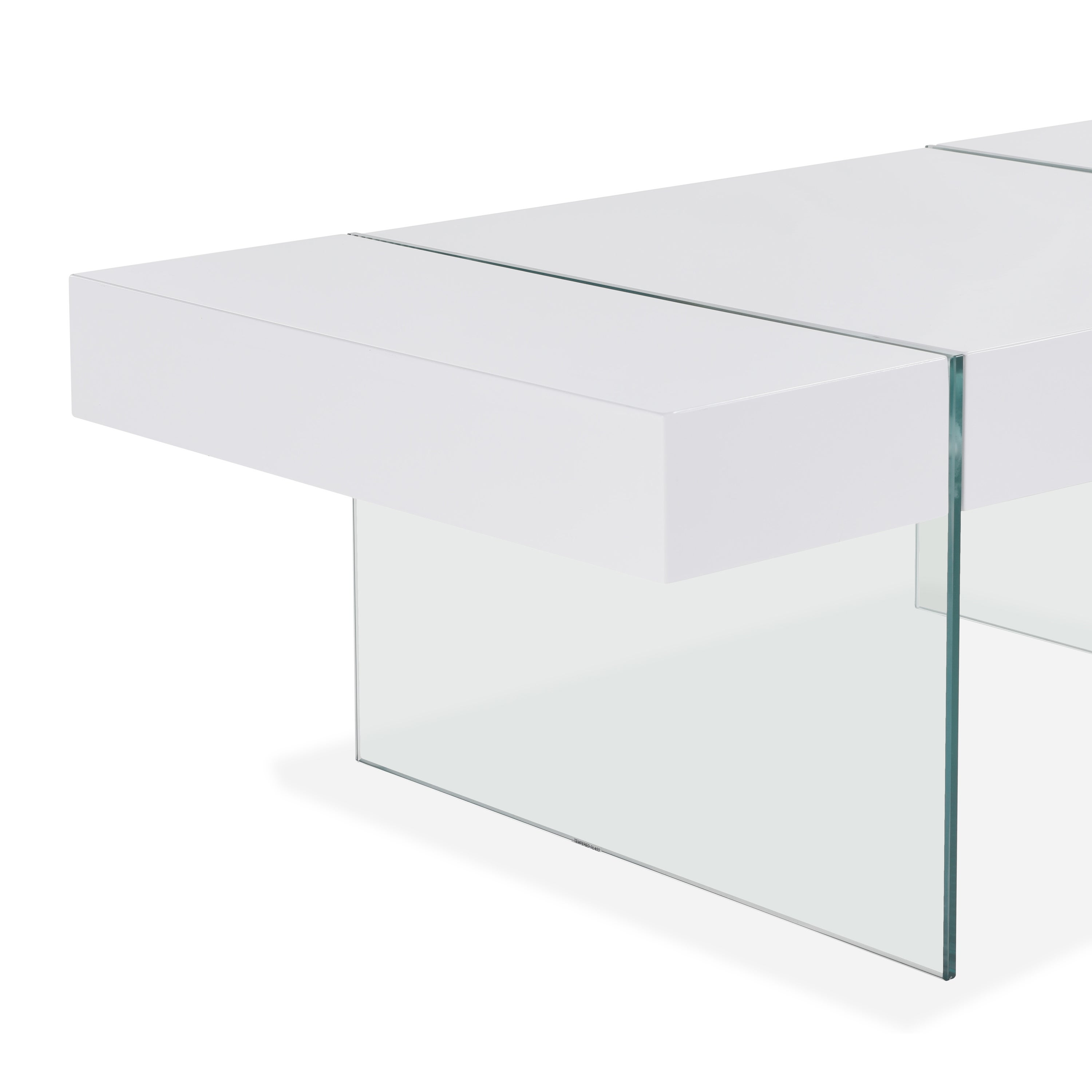 Shop Handy Living Rubi White Rectangular Coffee Table With Clear