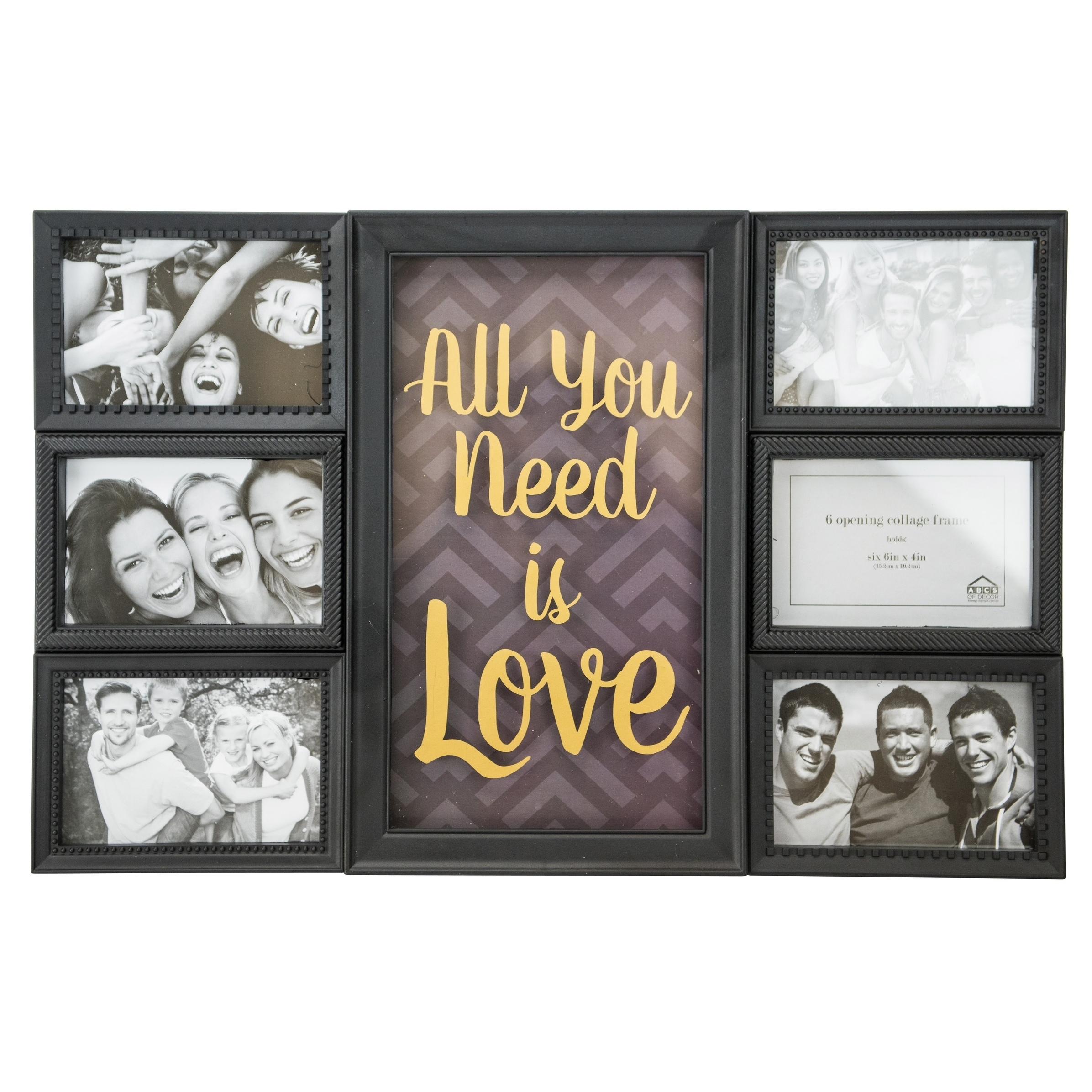 Shop All You Need Is Love Collage Wall Art Frame - Free Shipping On ...