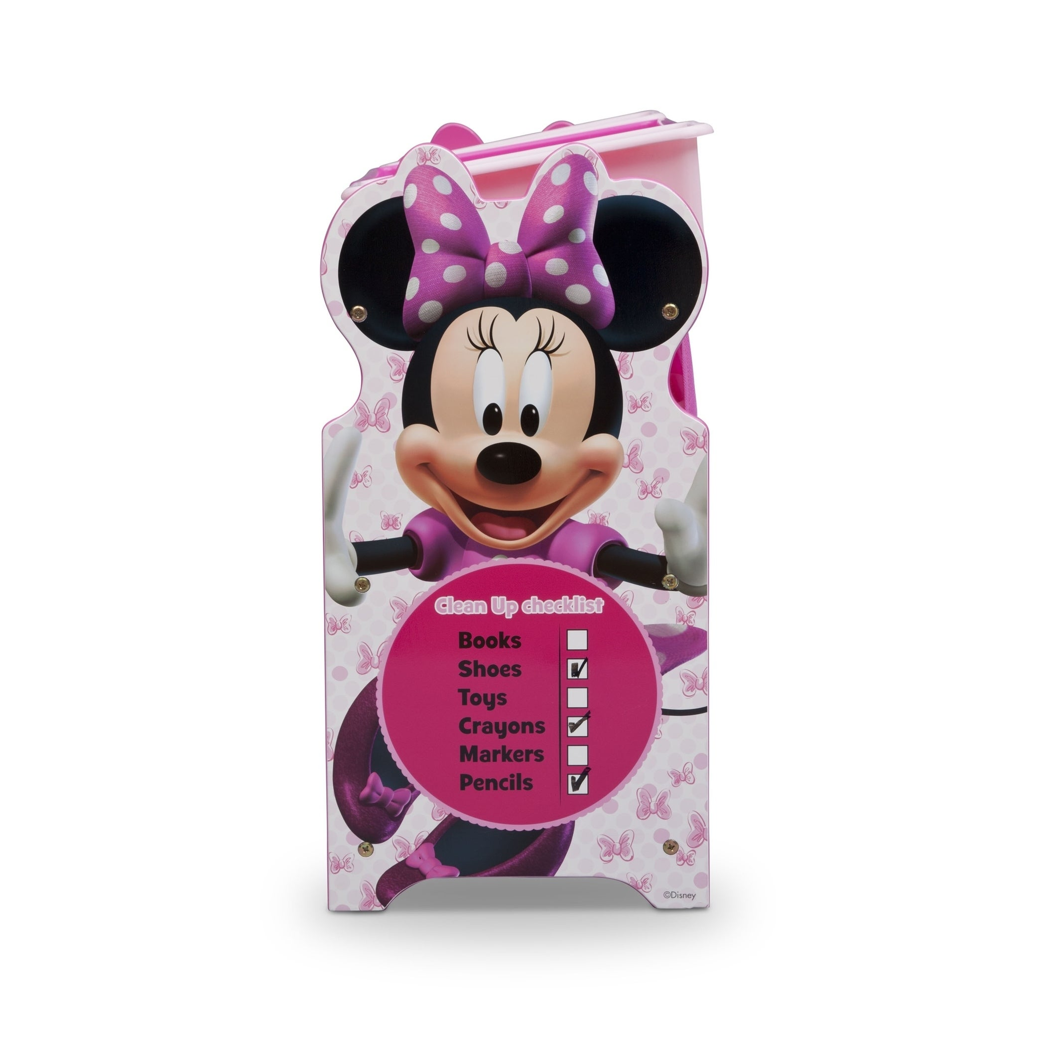 Shop Disney Minnie Mouse 9 Bin Plastic Toy Organizer   Free Shipping Today    Overstock.com   17158962