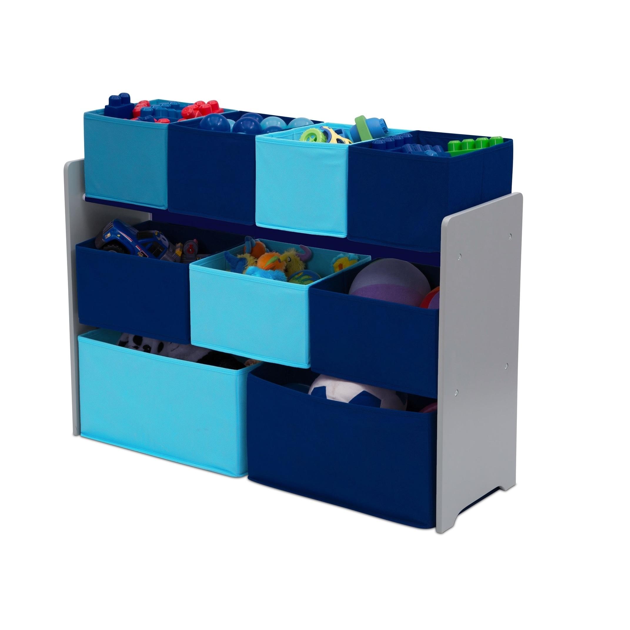 Shop Delta Children Deluxe Multi Bin Toy Organizer With Storage Bins, Grey/Blue  Bins   Free Shipping Today   Overstock.com   17158969