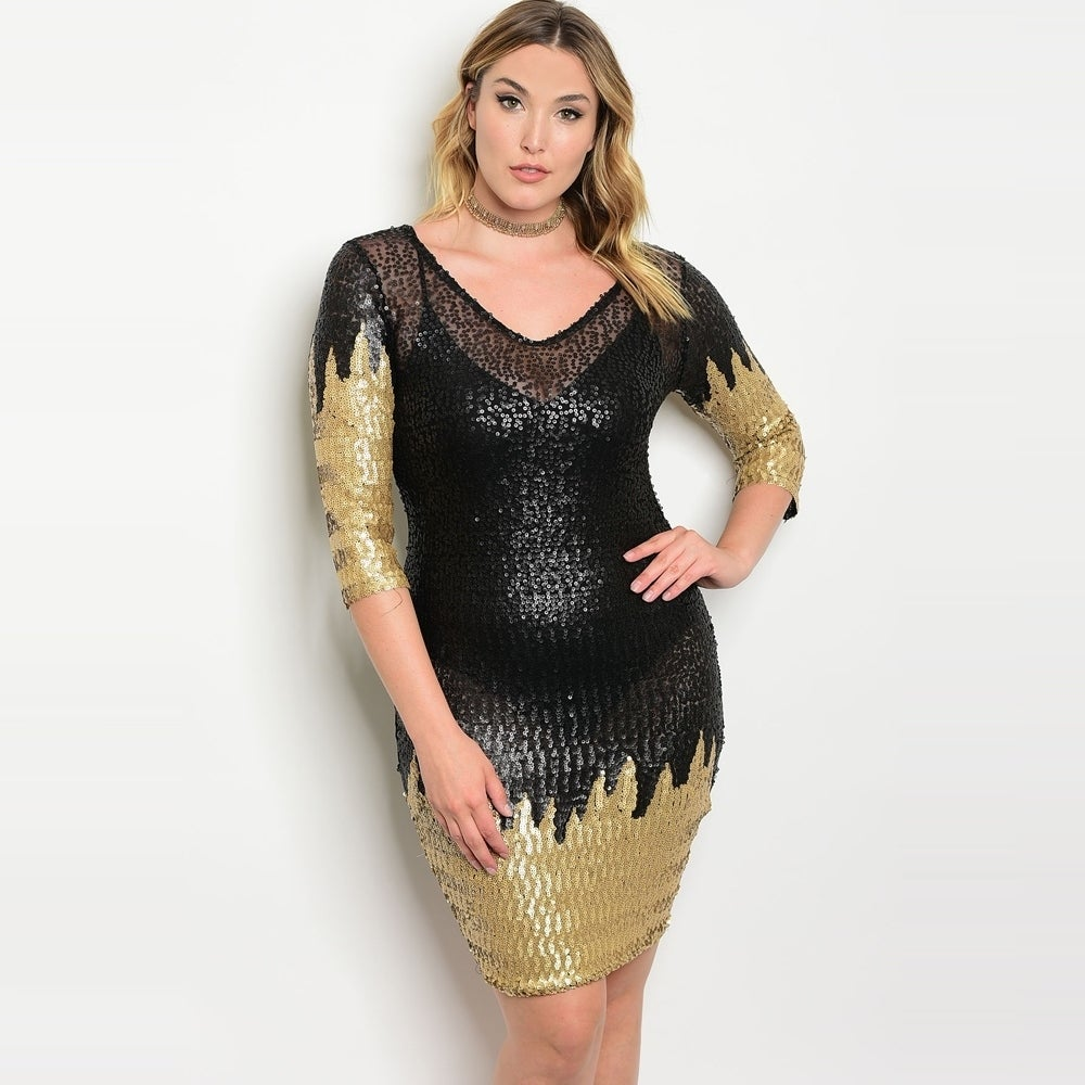 cfa6b793 Black Sequin Bodycon Dress Plus Size - raveitsafe