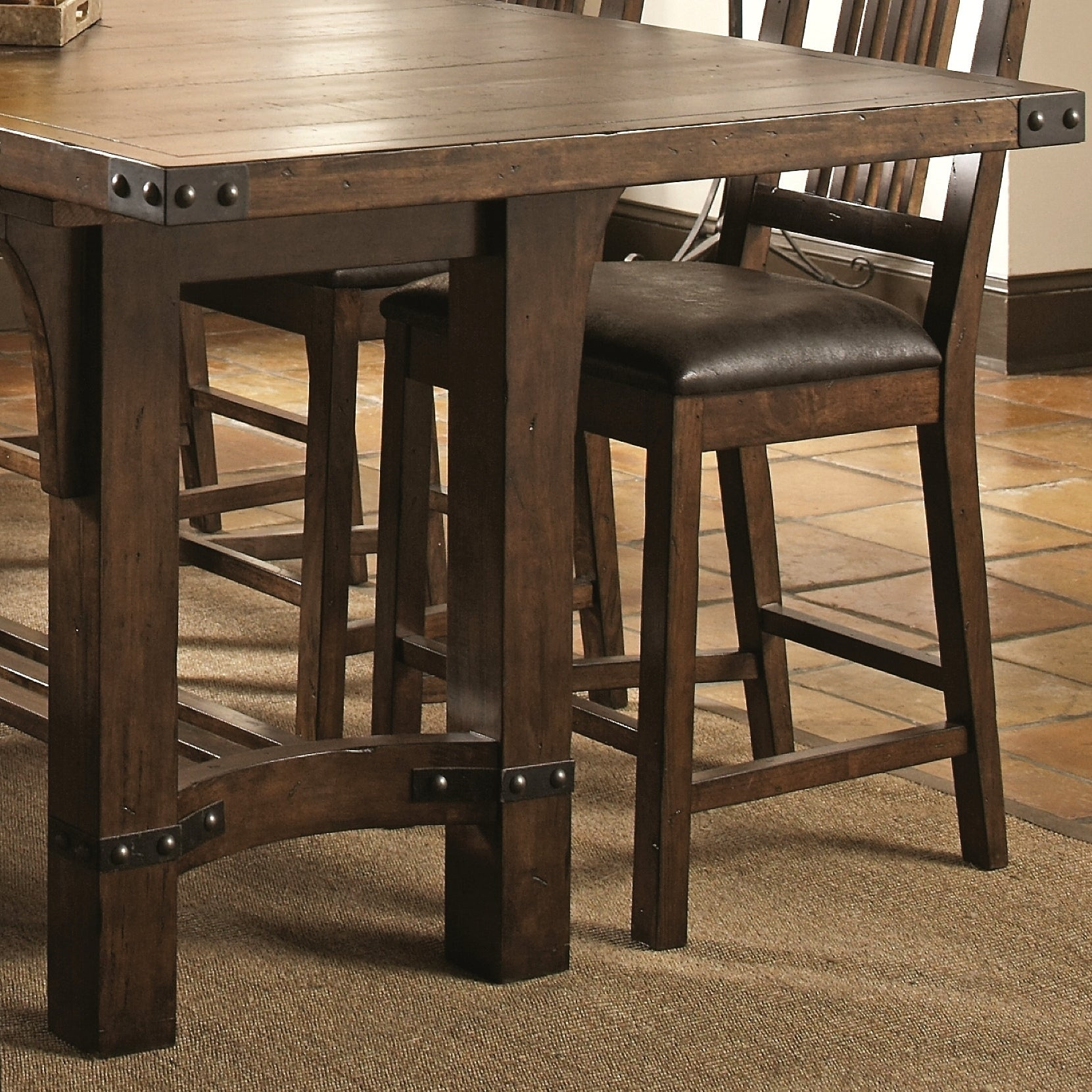 Charmant Shop Rimon Solid Wood Mission Style Rustic Counter Height Dining Set   Free  Shipping Today   Overstock.com   17166178