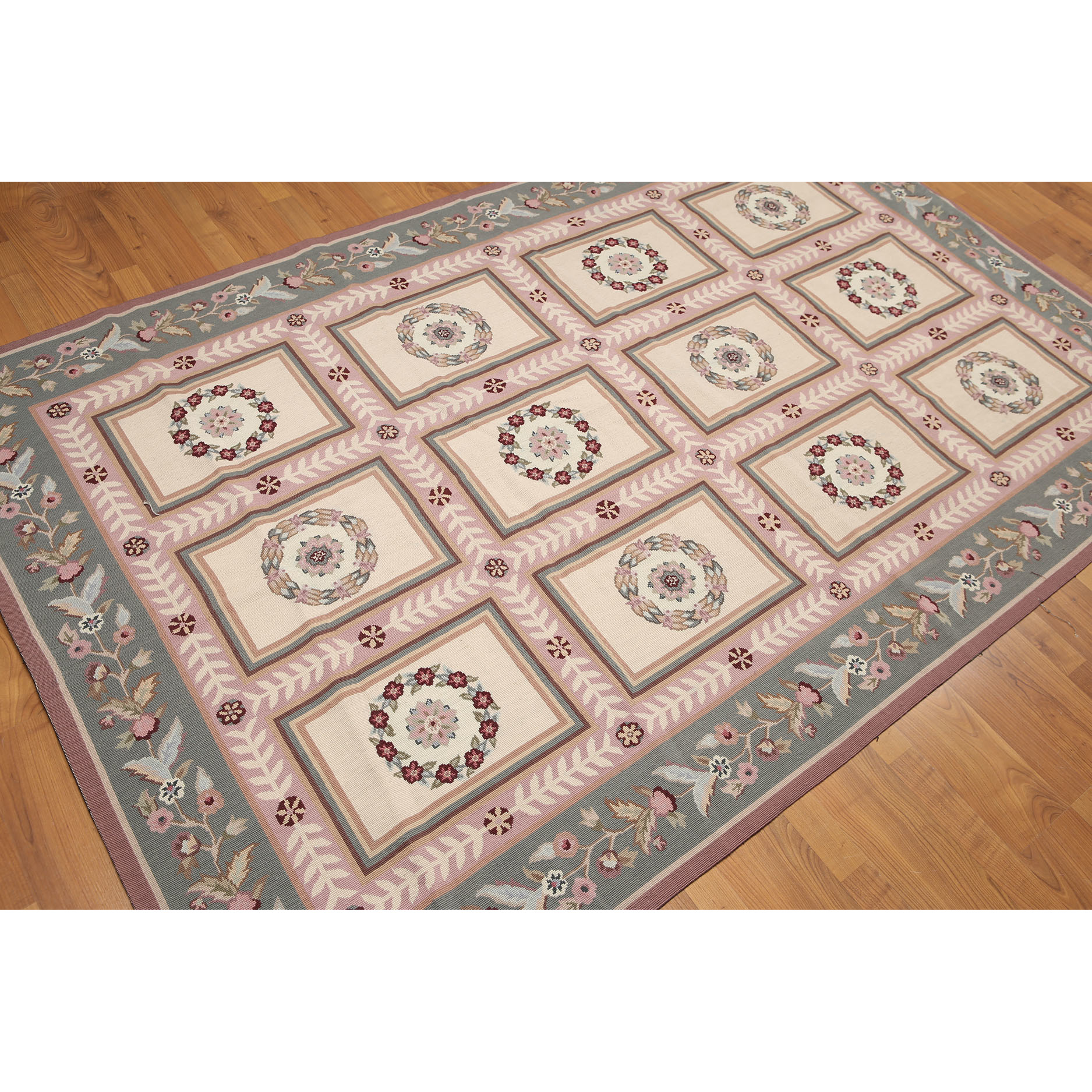 Aubusson Multicolor Wool Needlepoint French Country Area Rug 6 X 9 Free Shipping Today Com 23429119