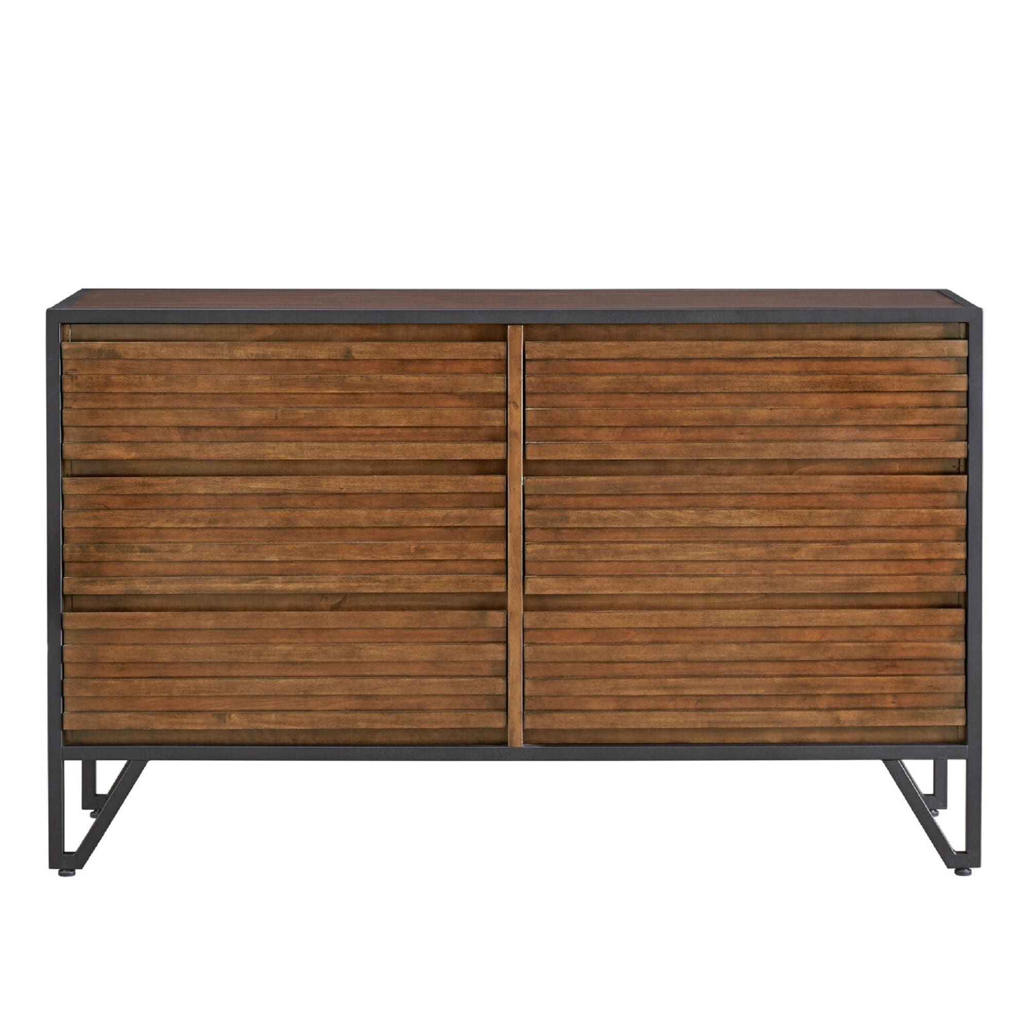 Chico Stacked Cherry Wood and Metal 6-Drawer Dresser and Mirror by iNSPIRE Q  Modern - Free Shipping Today - Overstock.com - 23429059