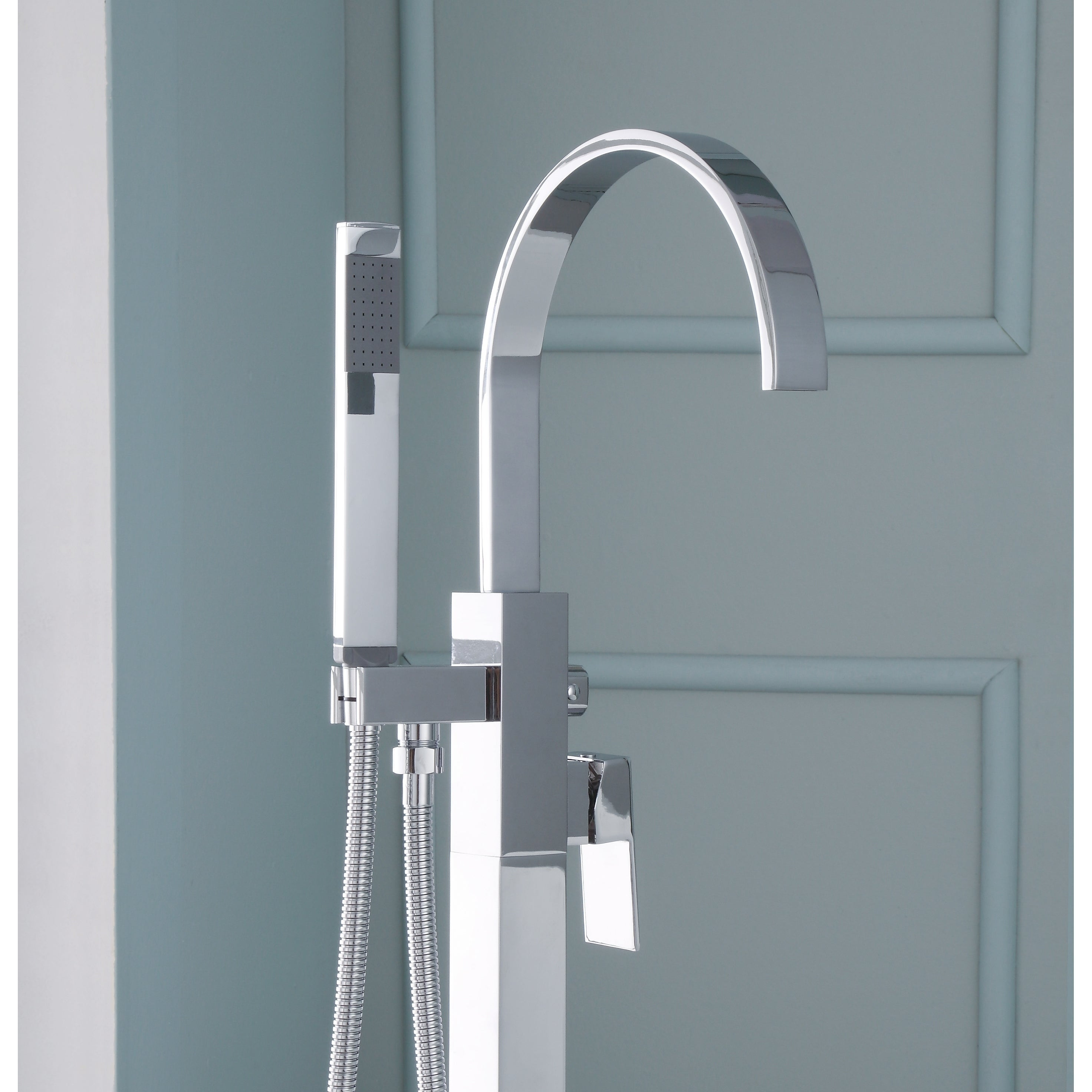 Ariel Single Handle Freestanding Roman Tub Faucet With Hand Shower