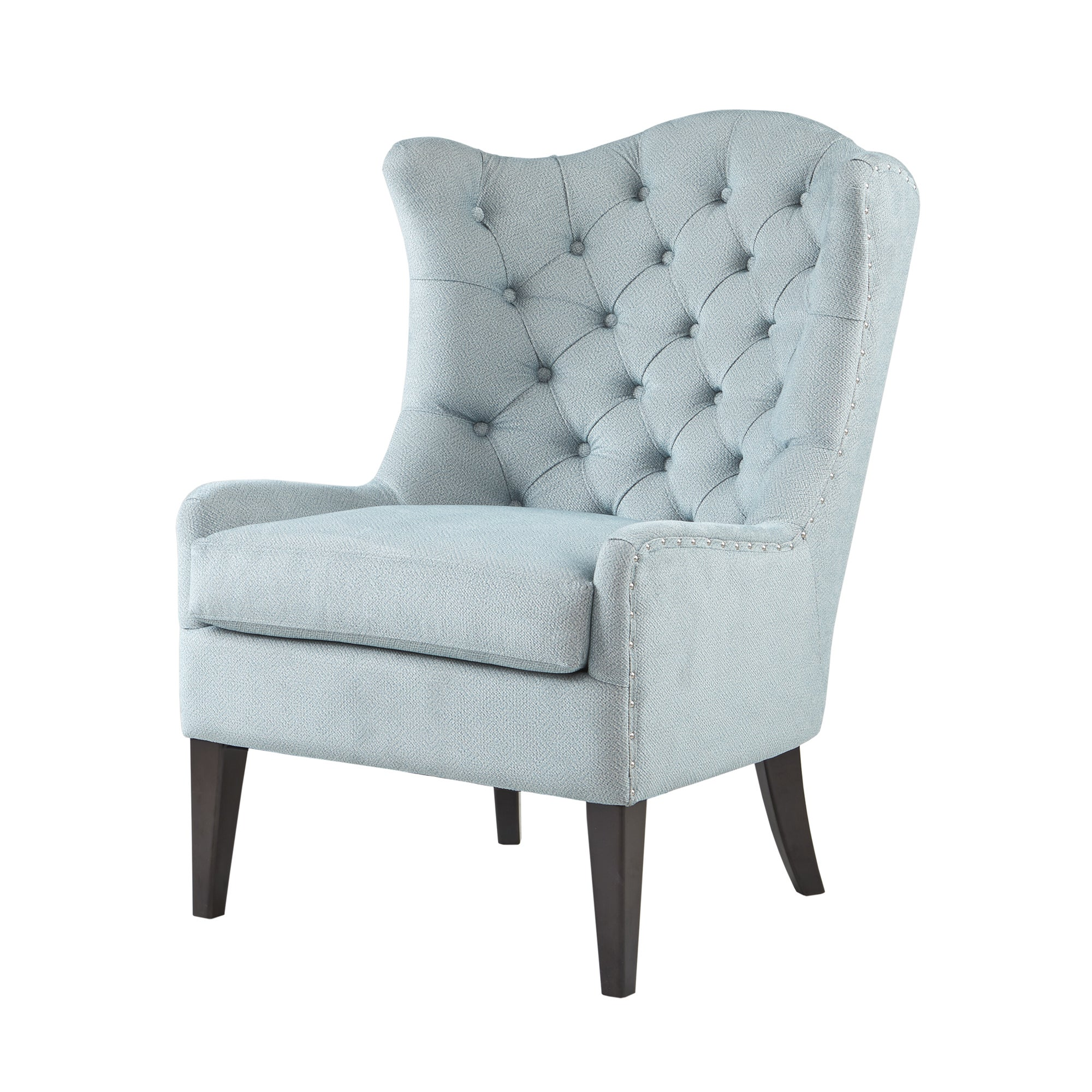 Superieur Shop Madison Park Loretta Light Blue Tufted Accent Chair   On Sale   Free  Shipping Today   Overstock.com   17178029