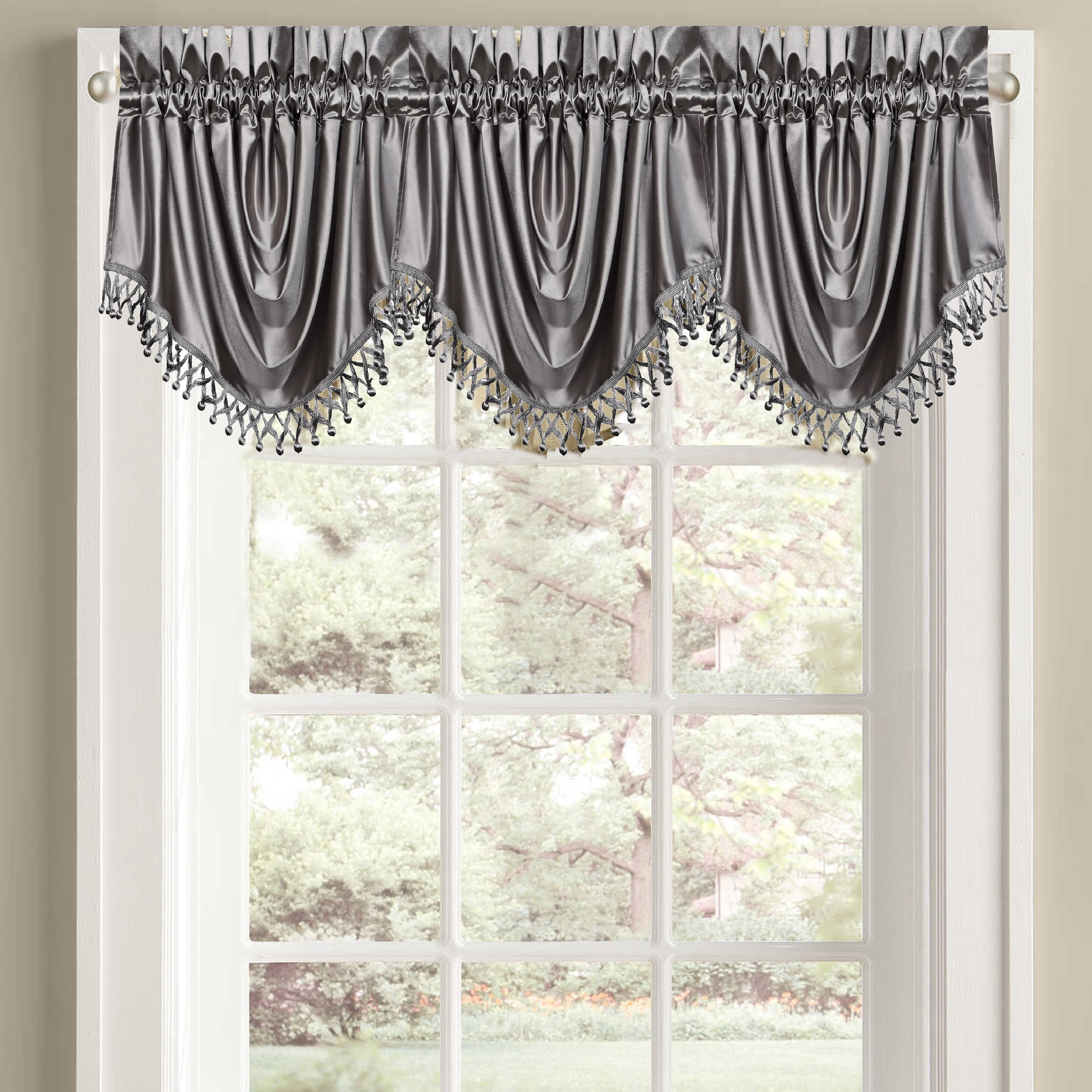 lined orders solid juline park embellished faux over product overstock on free trim home tassel to garden valance silk madison shipping waterfall how hang