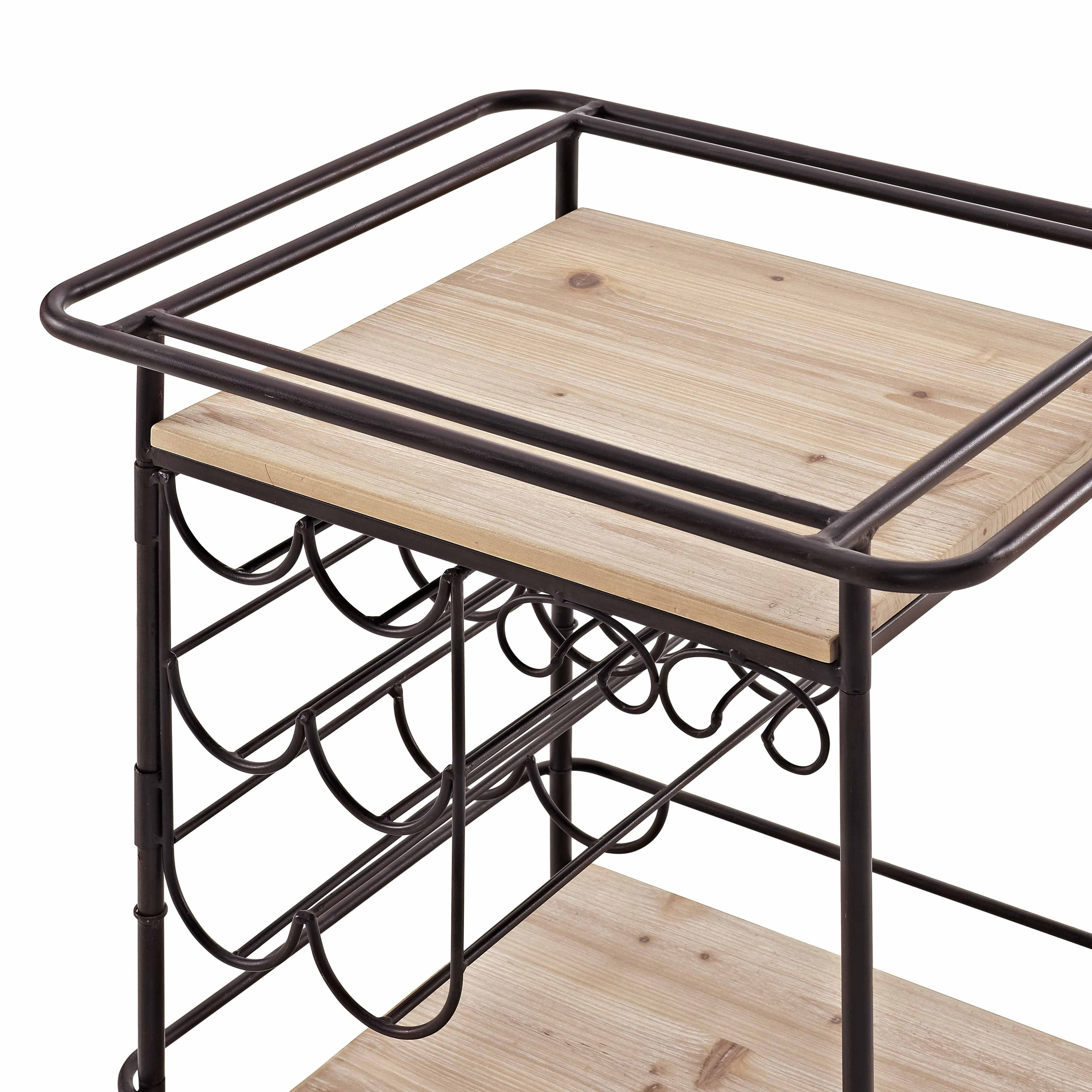 Copper Grove Mortimer Metal and Wood Wine Bar Cart - Free Shipping ...