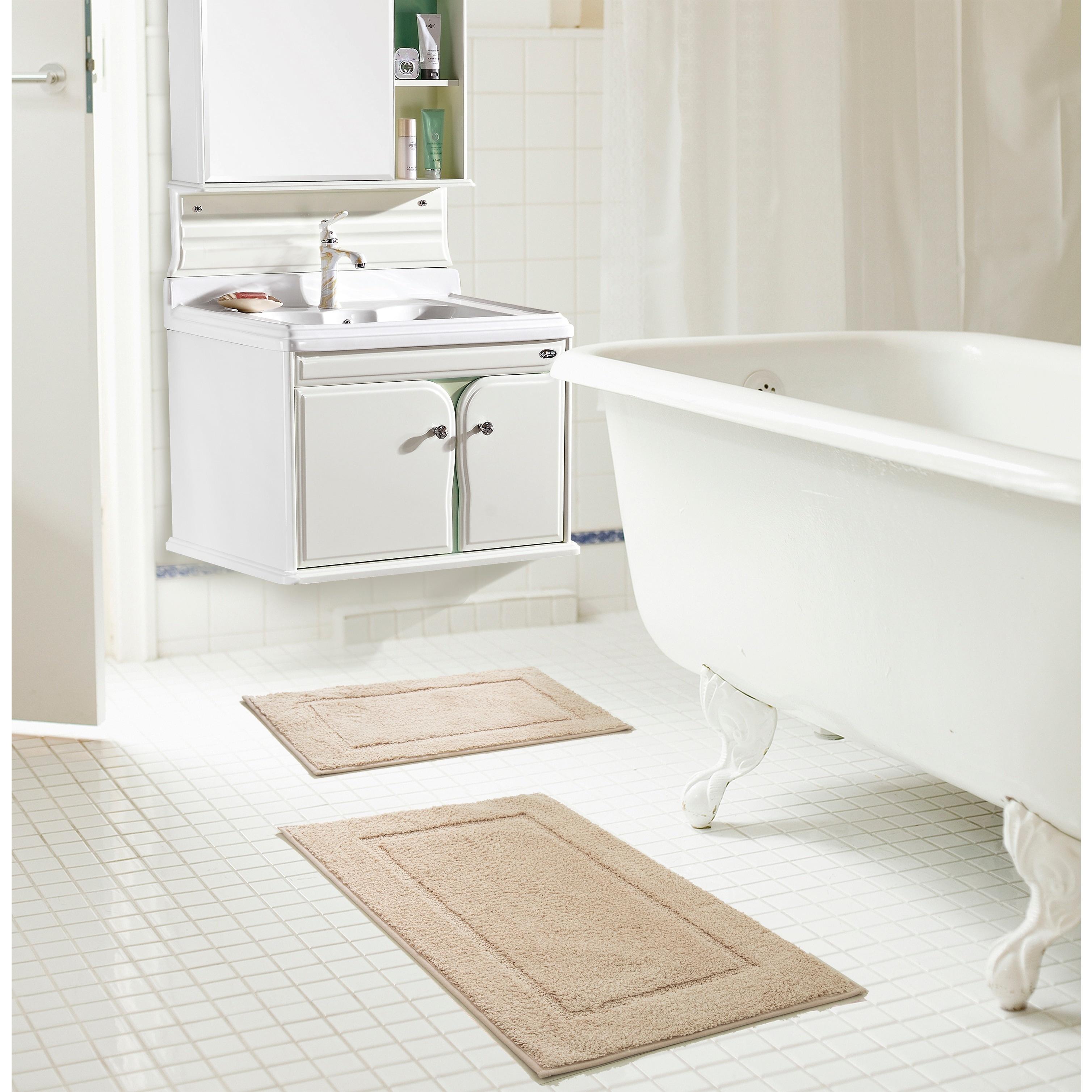 Shop RT Designers Collection Derby Microfiber 2-Piece Bath Mat Set ...