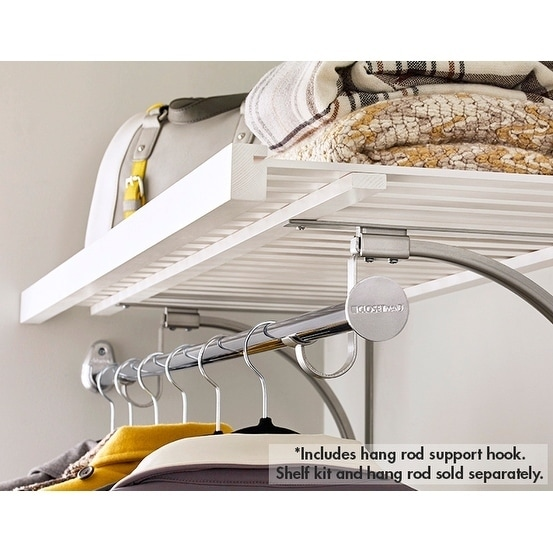 Shop ClosetMaid Premium Shelving Hang Rod Support Hook   Free Shipping On  Orders Over $45   Overstock.com   17179844