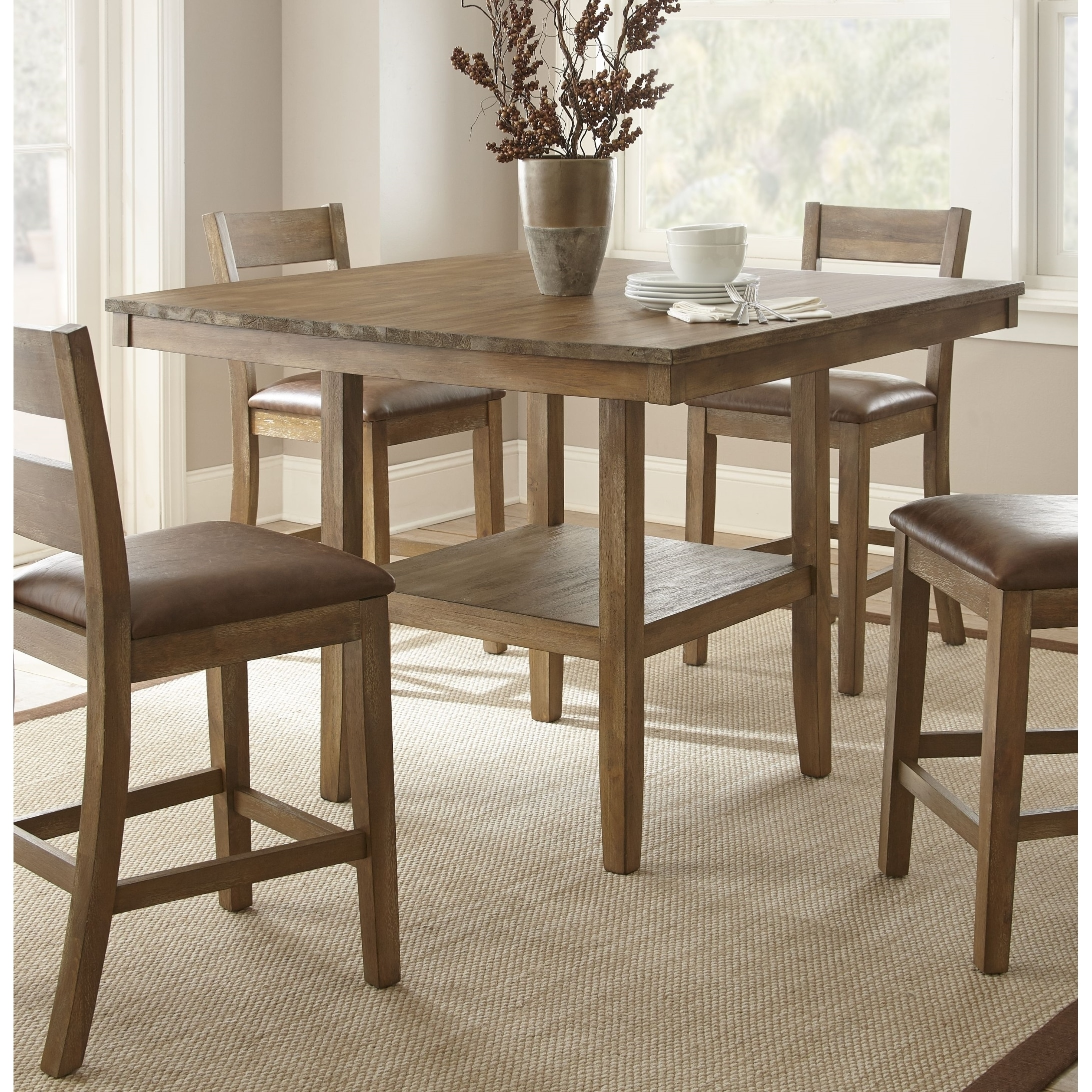 Chaffee 48 Inch Square Counter Height Dining Table By Greyson Living Free Shipping Today 17182117