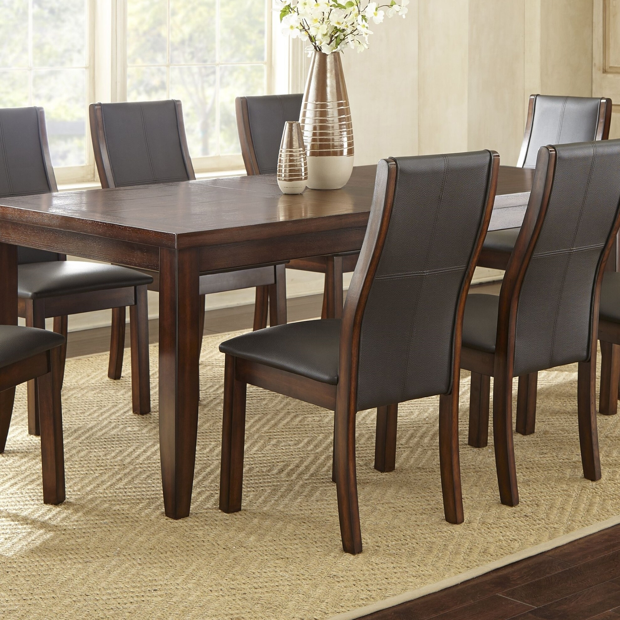 Tempe 81 inch Dining Table with Self Storing Butterfly Leaf by