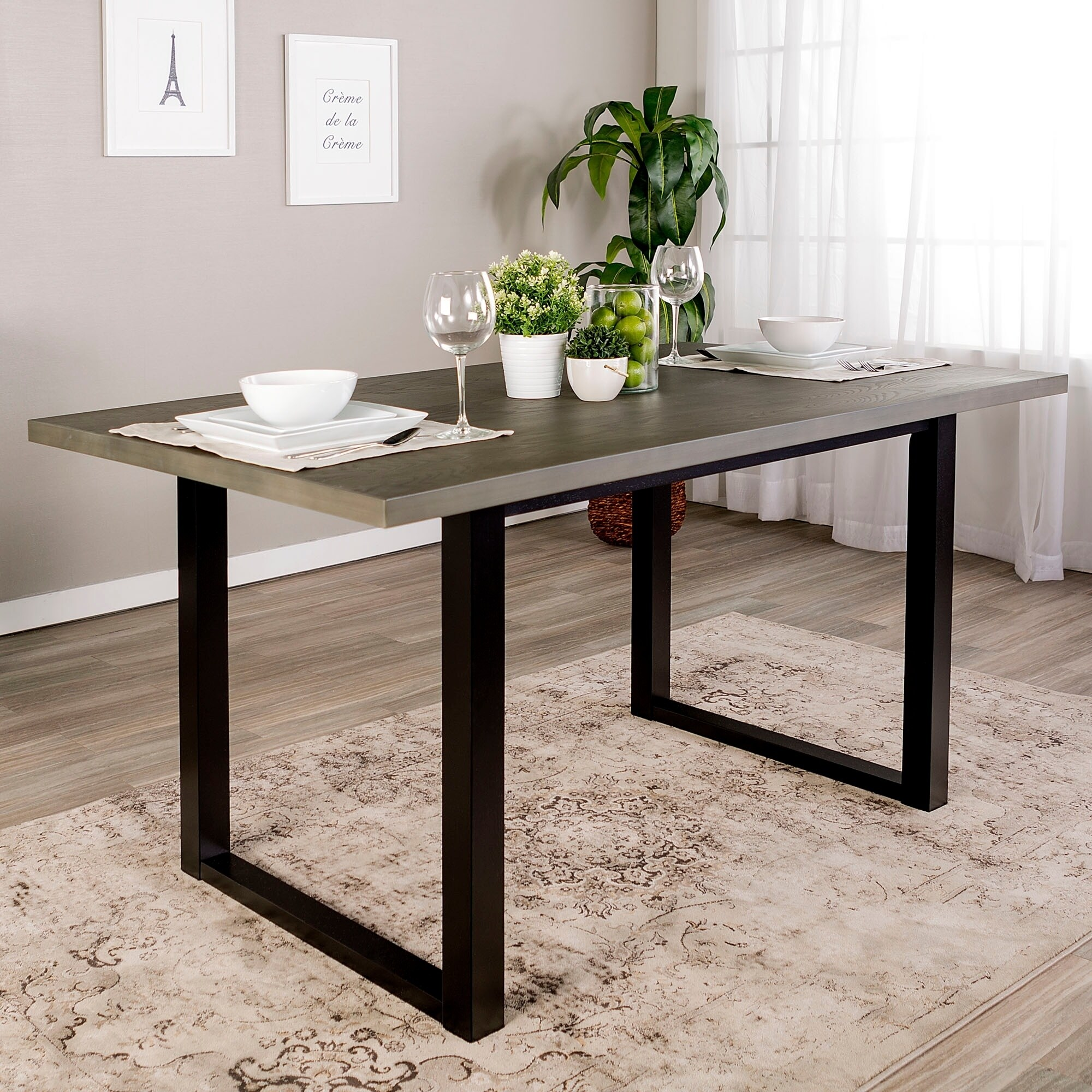 Carbon Loft Delano Two Tone Wood Dining Table