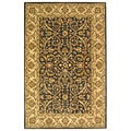 Safavieh Handmade Heritage Timeless Traditional Charcoal Grey/ Ivory Wool Rug (4' x 6')