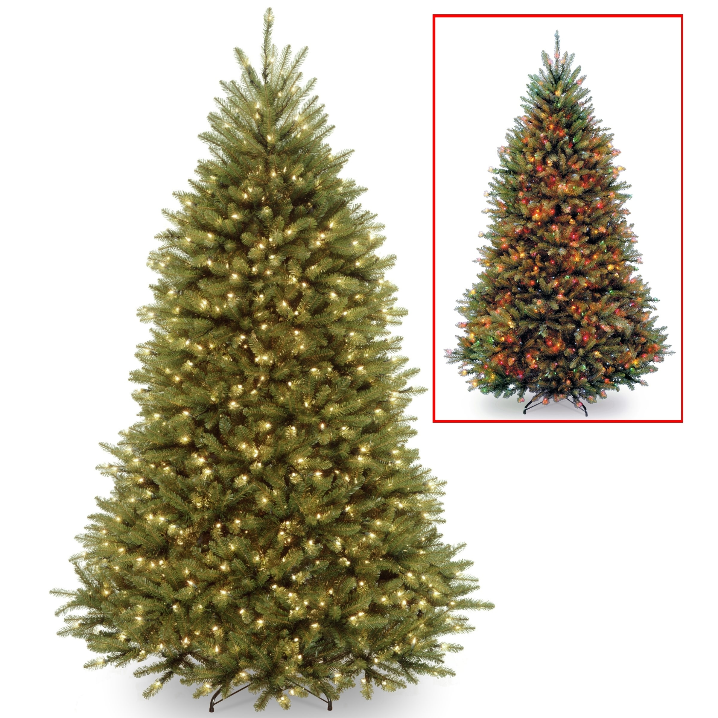 Shop 6 5 Ft Powerconnect Tm Dunhill Fir Tree With Dual Color Led