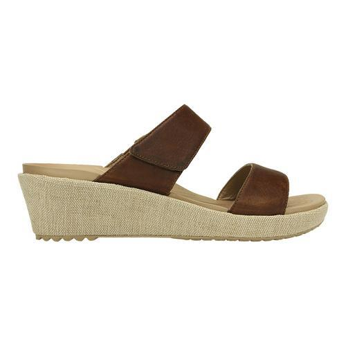 4c2641bcc110 Shop Women s Crocs A-leigh 2-strap Mini Wedge Sandal Hazelnut Chai - Free  Shipping Today - Overstock - 17228177
