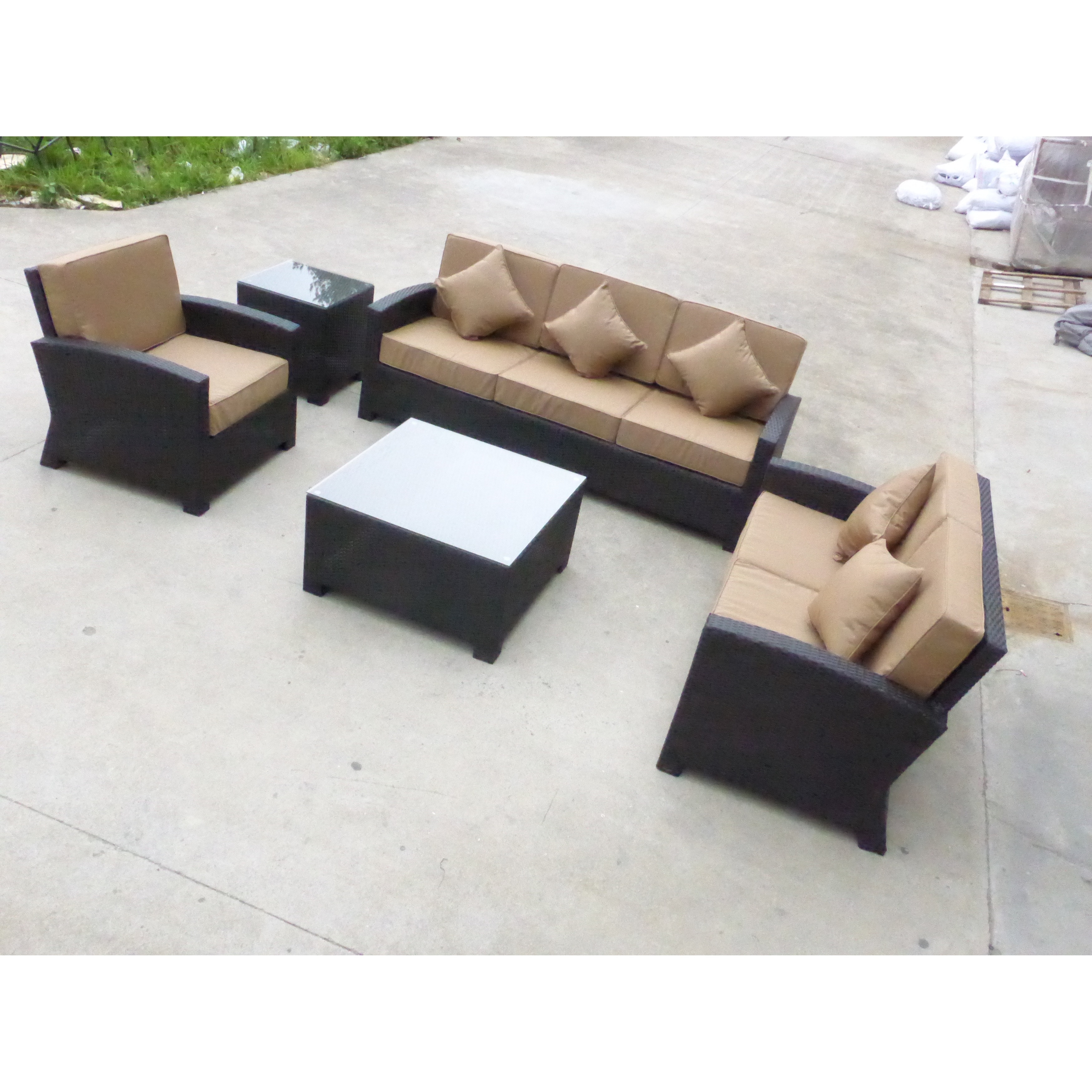 Shop 6pc New Baltimore Resin Wicker Outdoor Patio Furniture Seating Group.    Free Shipping Today   Overstock.com   17236827