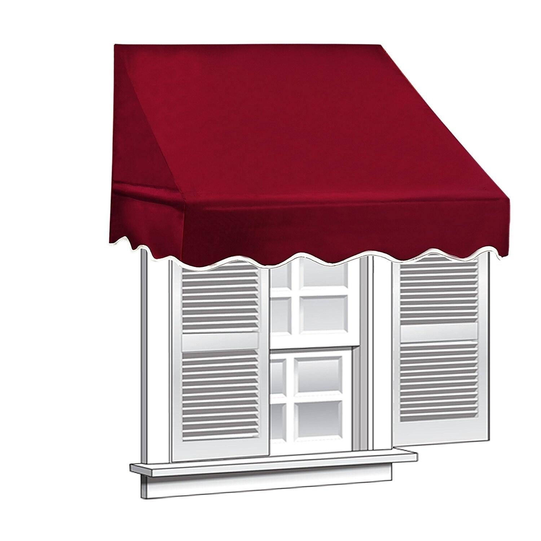 Shop Aleko 4 Feet X 2 Feet Window Awning Door Canopy Sun Rain Shade