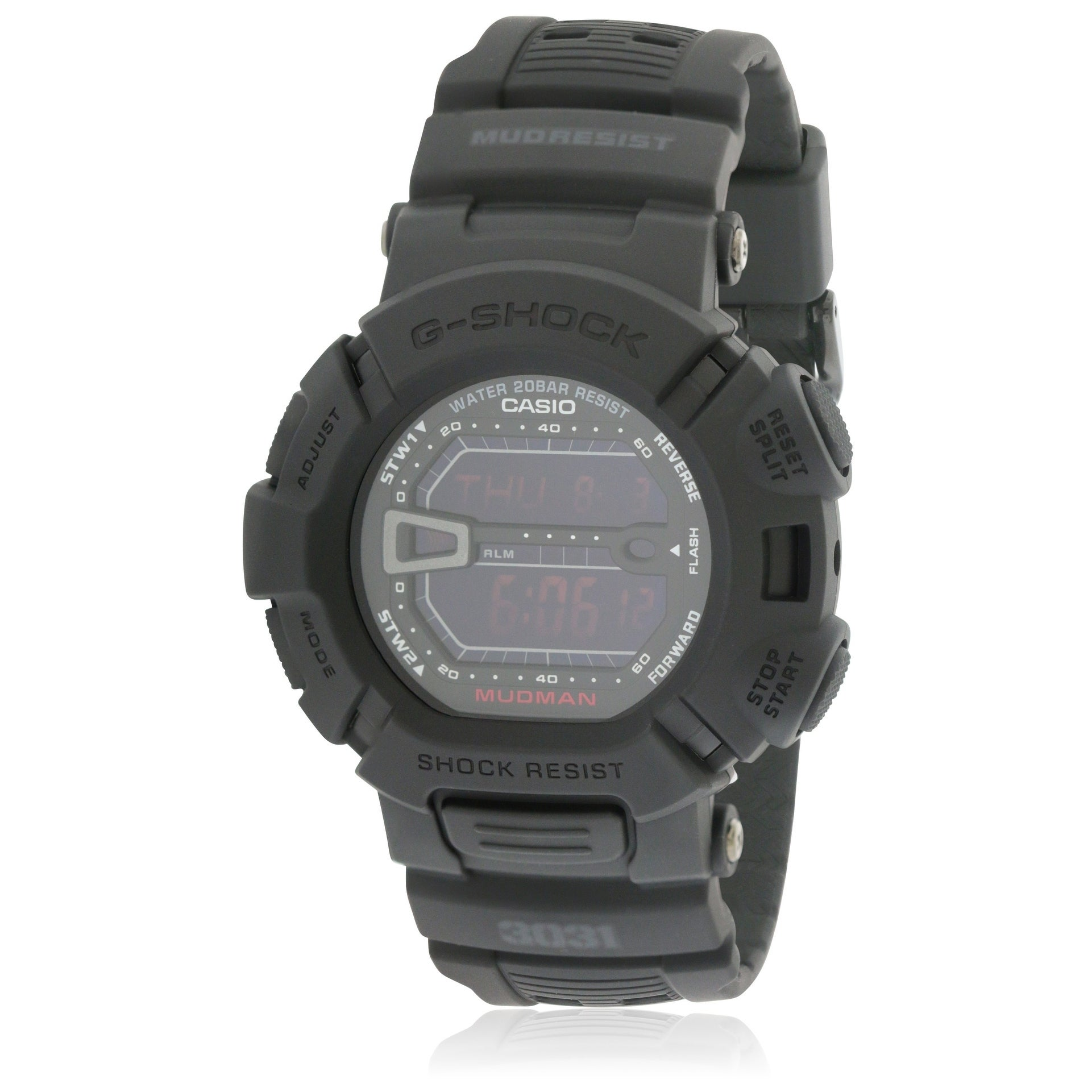 c0ebe4ddab8 Shop Casio Men s G-Force Military Concept Black Digital Watch G9000MS-1CR -  Free Shipping Today - Overstock - 17238034
