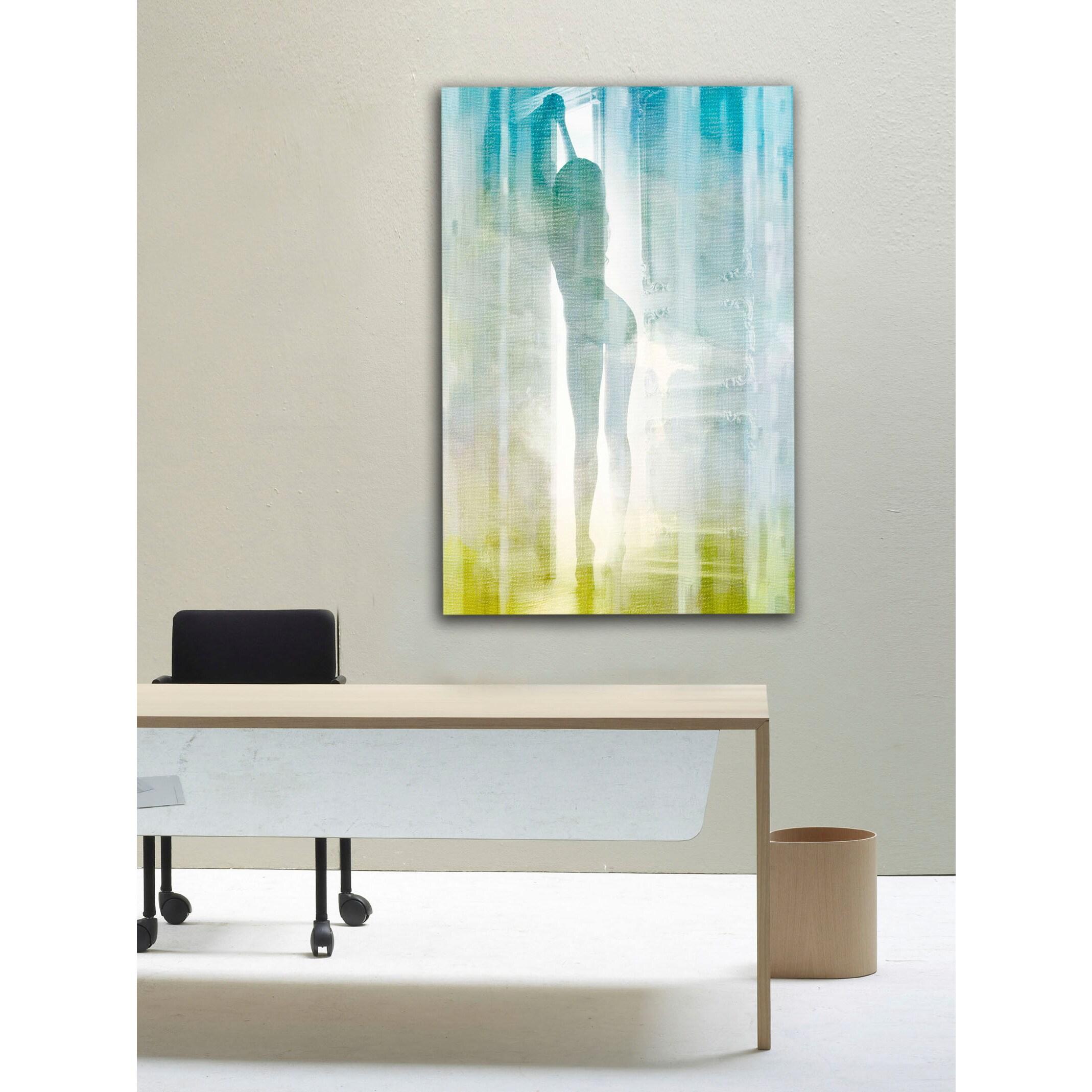 open door painting. \u0027Open Door\u0027 Painting Print On Wrapped Canvas - Blue Free Shipping Today  Overstock.com 23493438 Open Door Painting