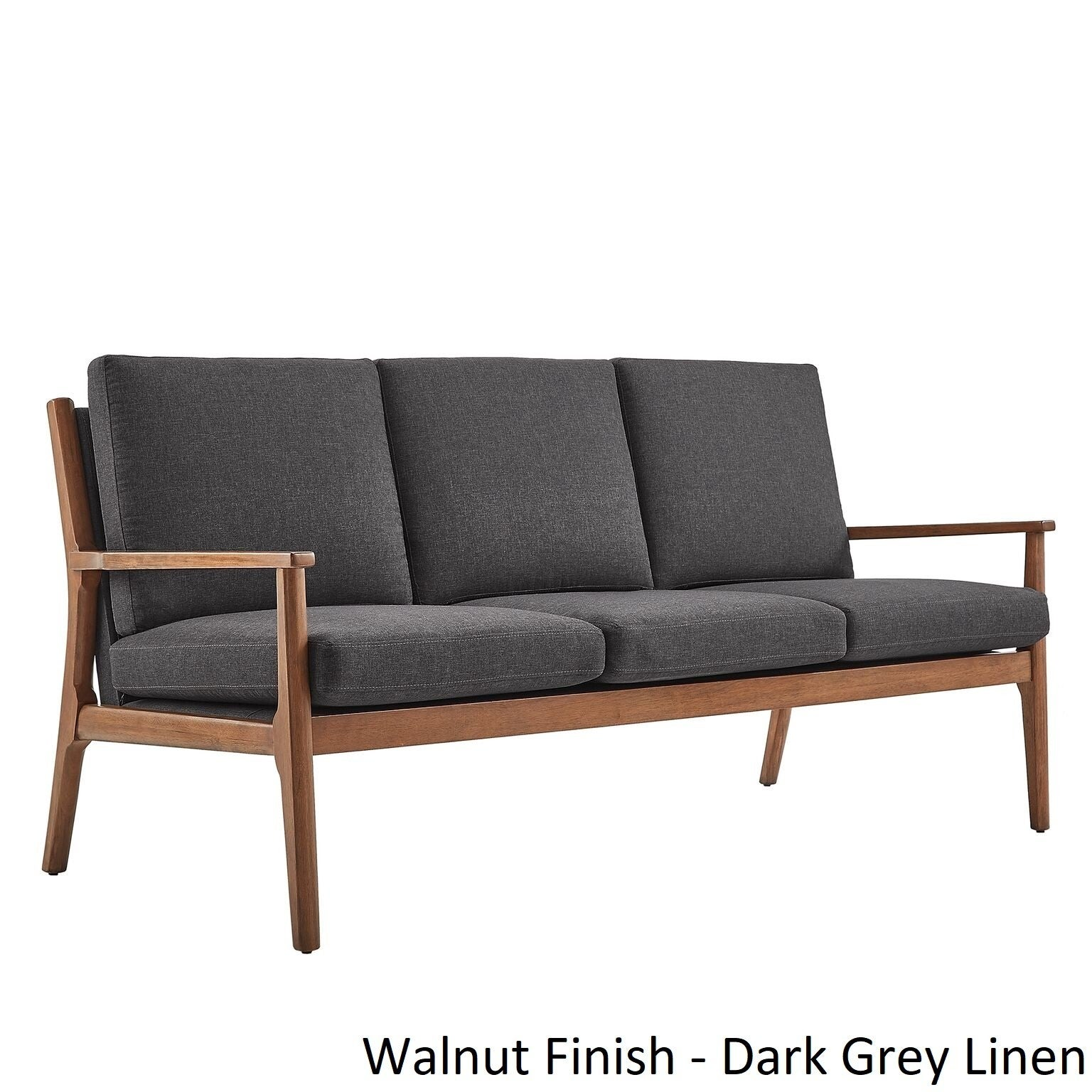 Delilah Mid Century Straight Wood Arm Sofa By Inspire Q Modern On Free Shipping Today 17238631