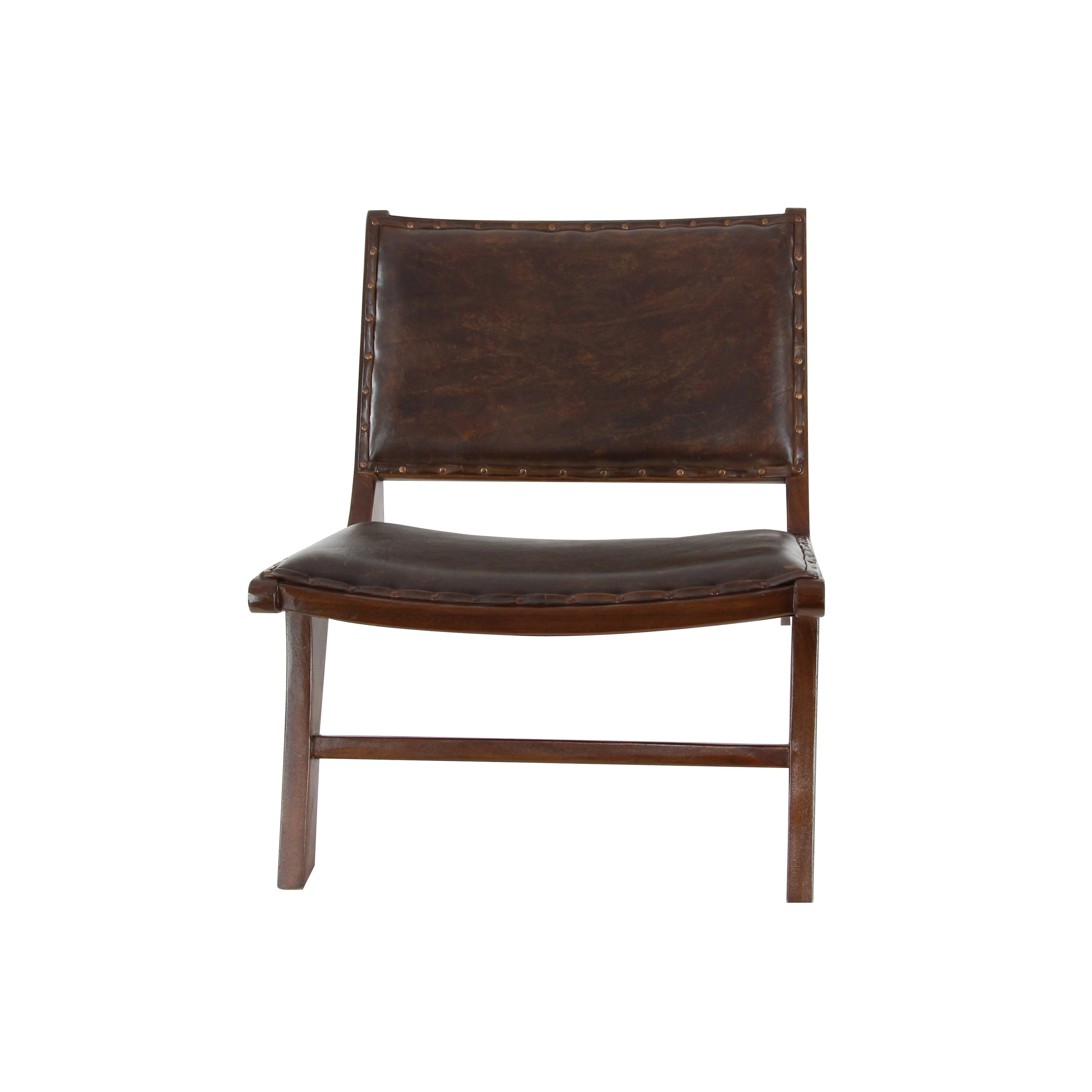 Incroyable Shop Traditional 27 Inch Wood And Leather Cushioned Chair By Studio 350    Free Shipping Today   Overstock.com   17240567
