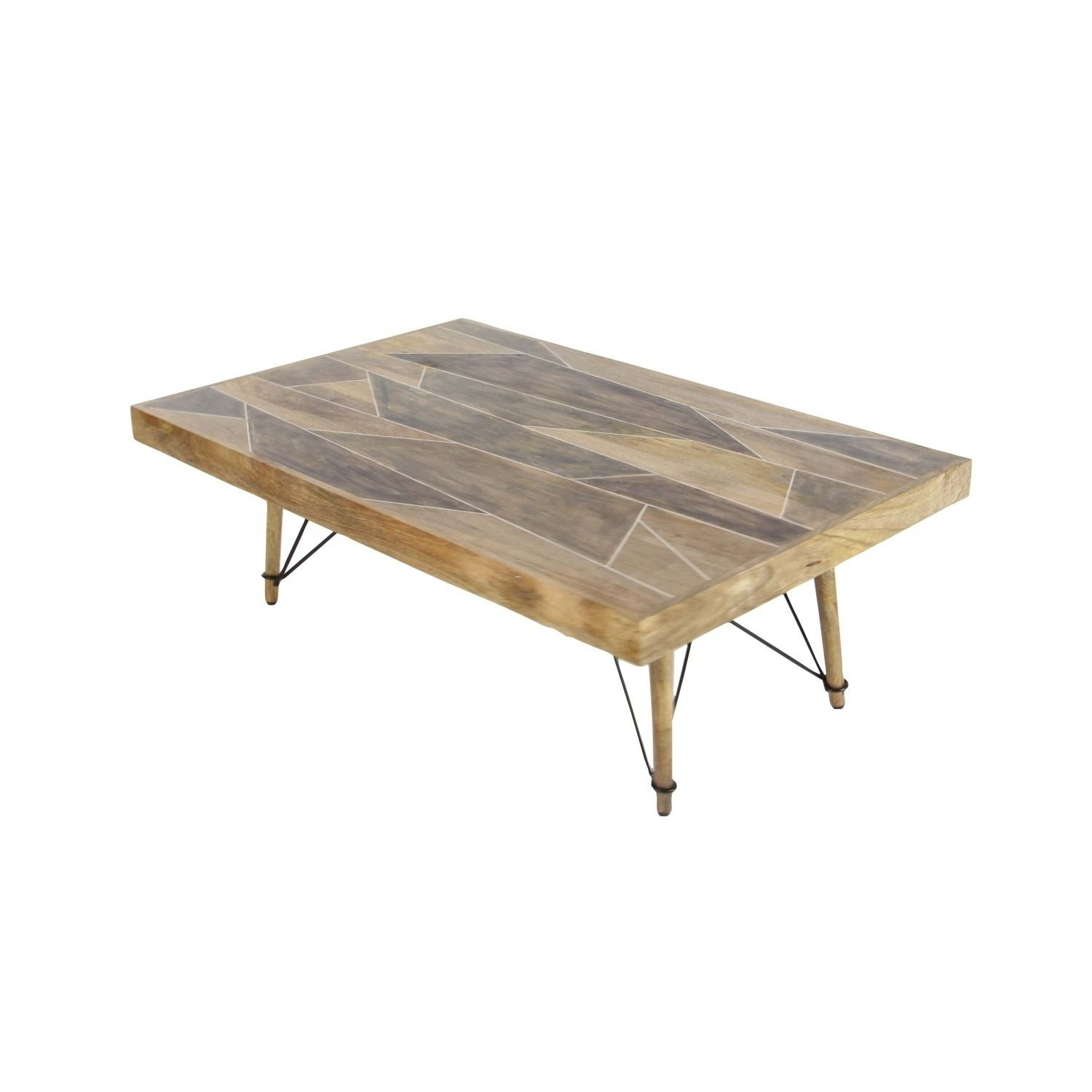 Studio 350 Wood Metal Coffee Table 47 inches wide 16 inches high