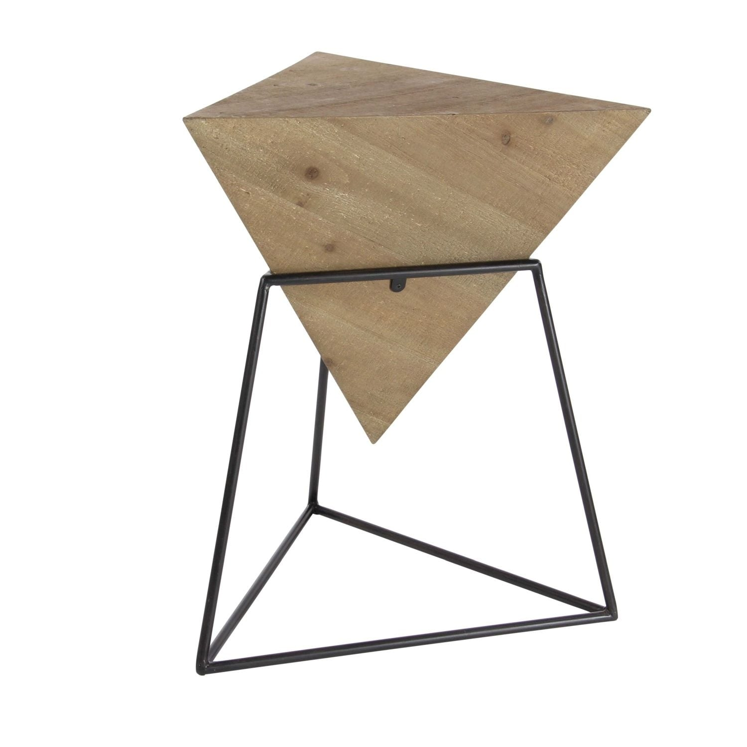 Studio 350 Wood Metal Triangle Table 20 Inches Wide 24 High Free Shipping Today 23495412
