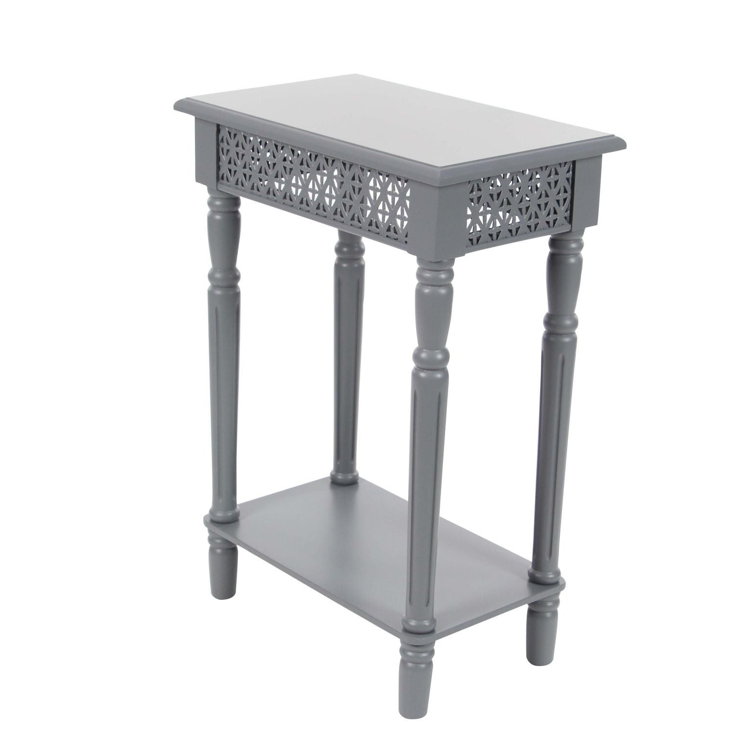 Shop Studio 350 Wood Grey Side Table 18 Inches Wide, 27 Inches High   On  Sale   Free Shipping Today   Overstock.com   17240971