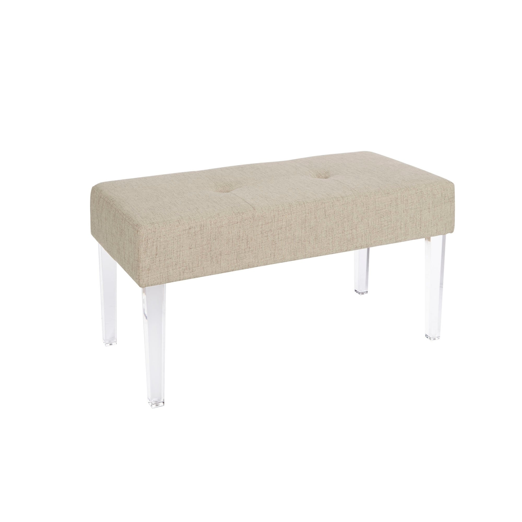 Shop claire acrylic leg rectangular bench on sale free shipping today overstock com 17264670