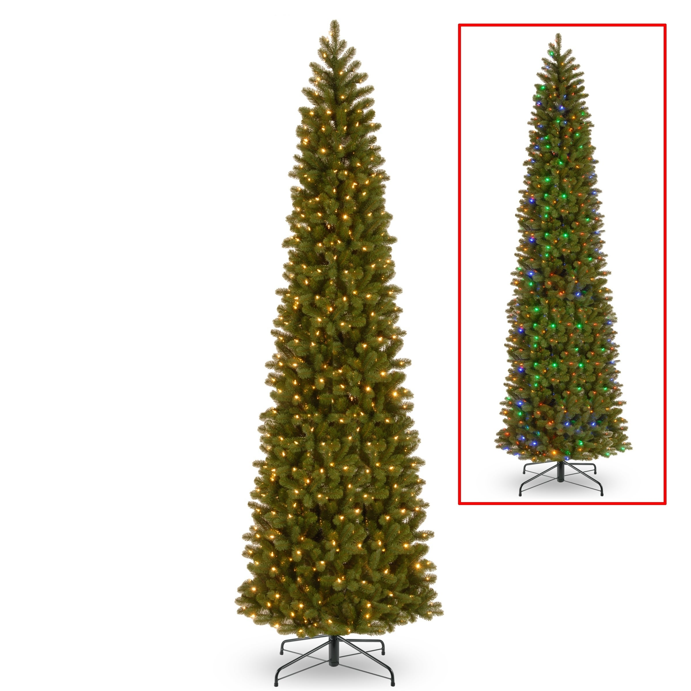892d109b7113 Shop 12 ft. Downswept Douglas Pencil Slim Fir Tree with Dual Color® LED  Lights - Free Shipping Today - Overstock - 17277681
