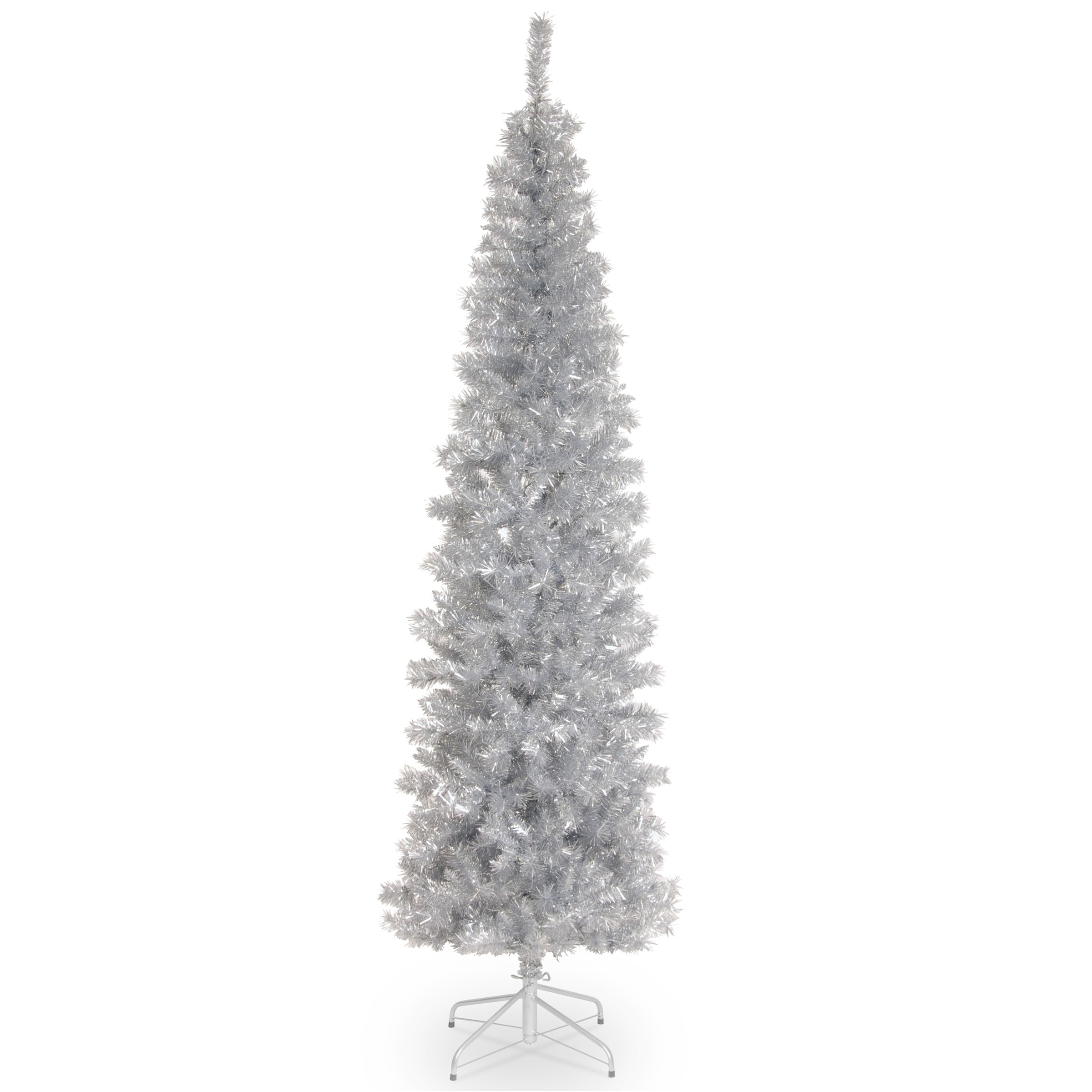 Shop 7 Ft Silver Tinsel Tree On Sale Free Shipping Today Overstock Com 17279357