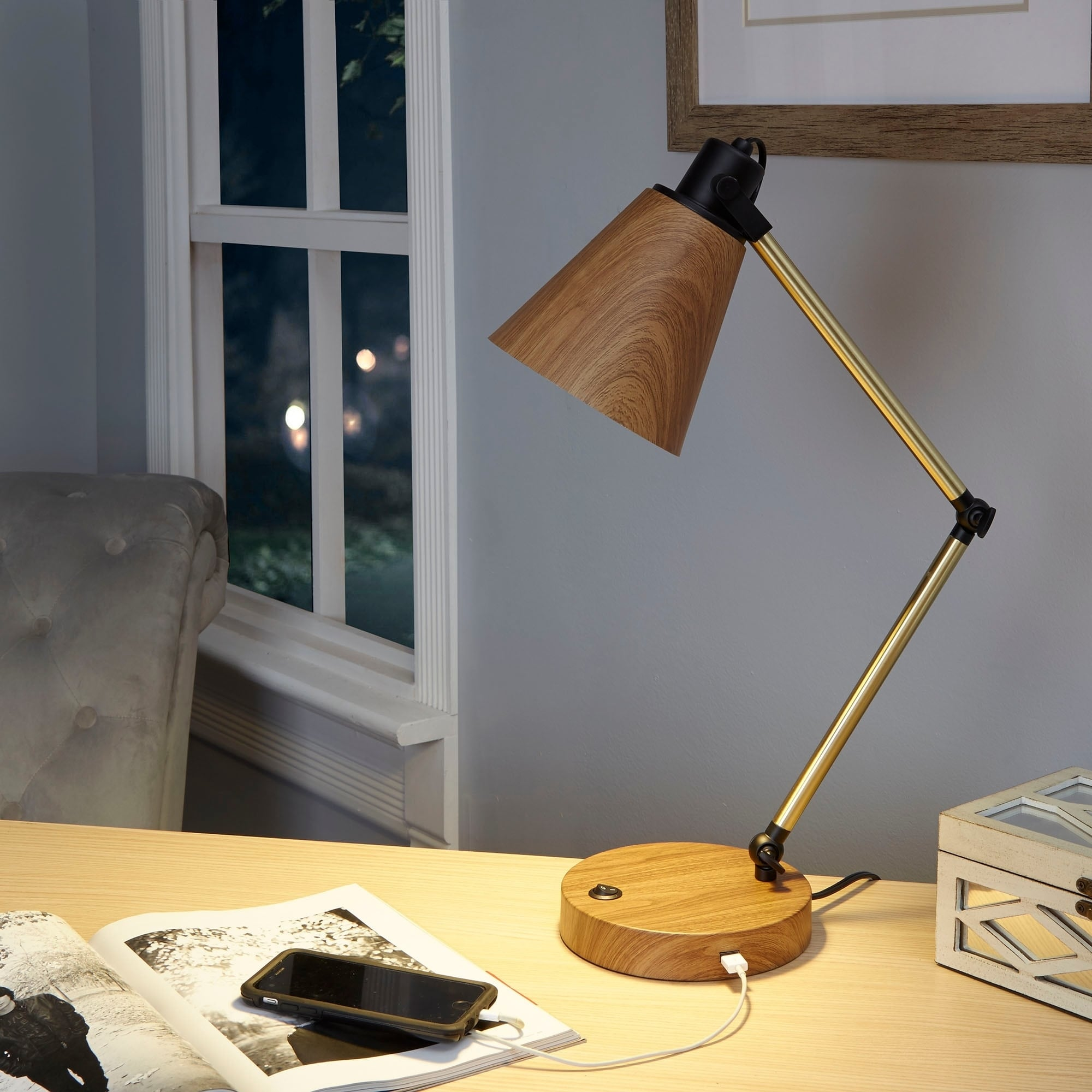 of arcada with awesome desk uttermost usb lamp port ideas