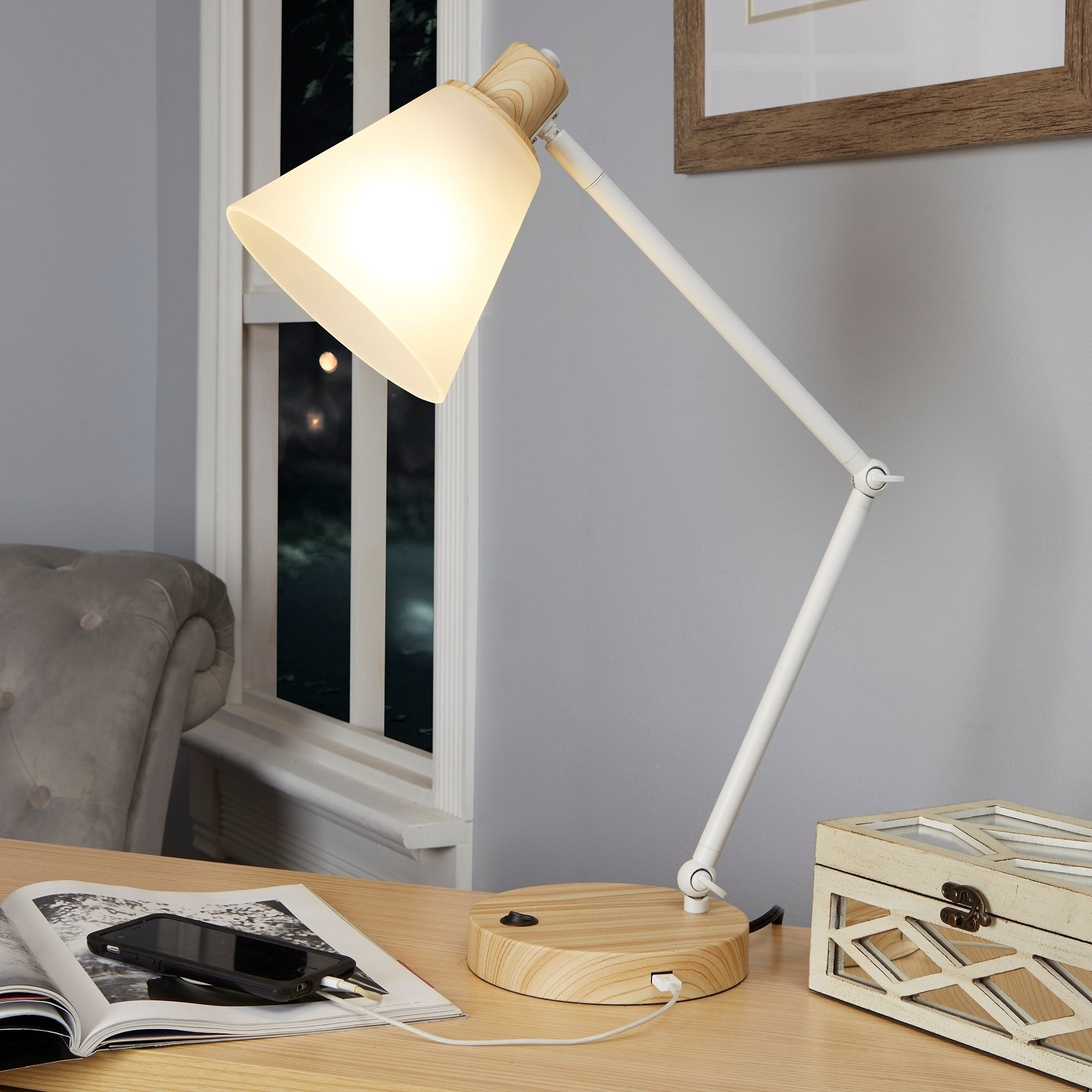 charging tar table desk elegant port of night with mah lamp modern usb aftu android inspirational light clamp