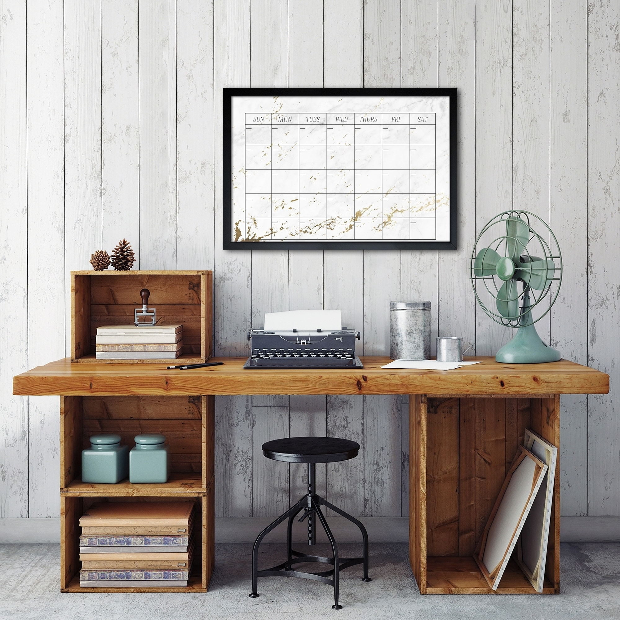 Shop oliver gal stylish marble calendar design home office dry erase board on sale ships to canada overstock ca 17288896