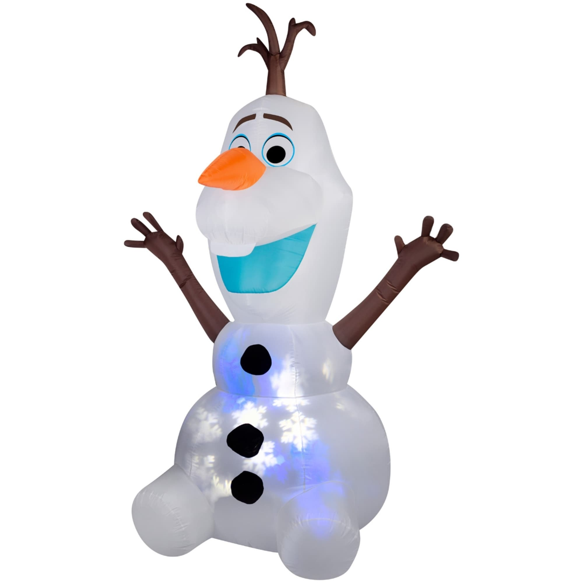 Shop Christmas Airblown Inflatable Projection Snowflurry Olaf - Free ...