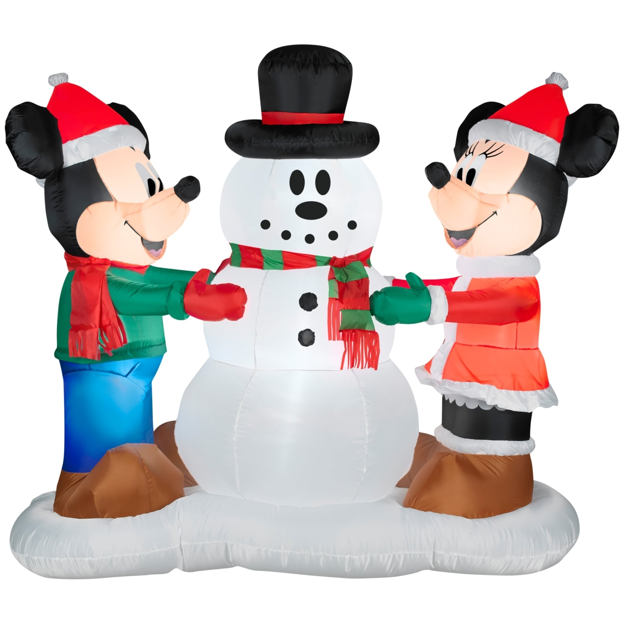 Shop Christmas Airblown Inflatable Mickey and Minnie Decorating ...