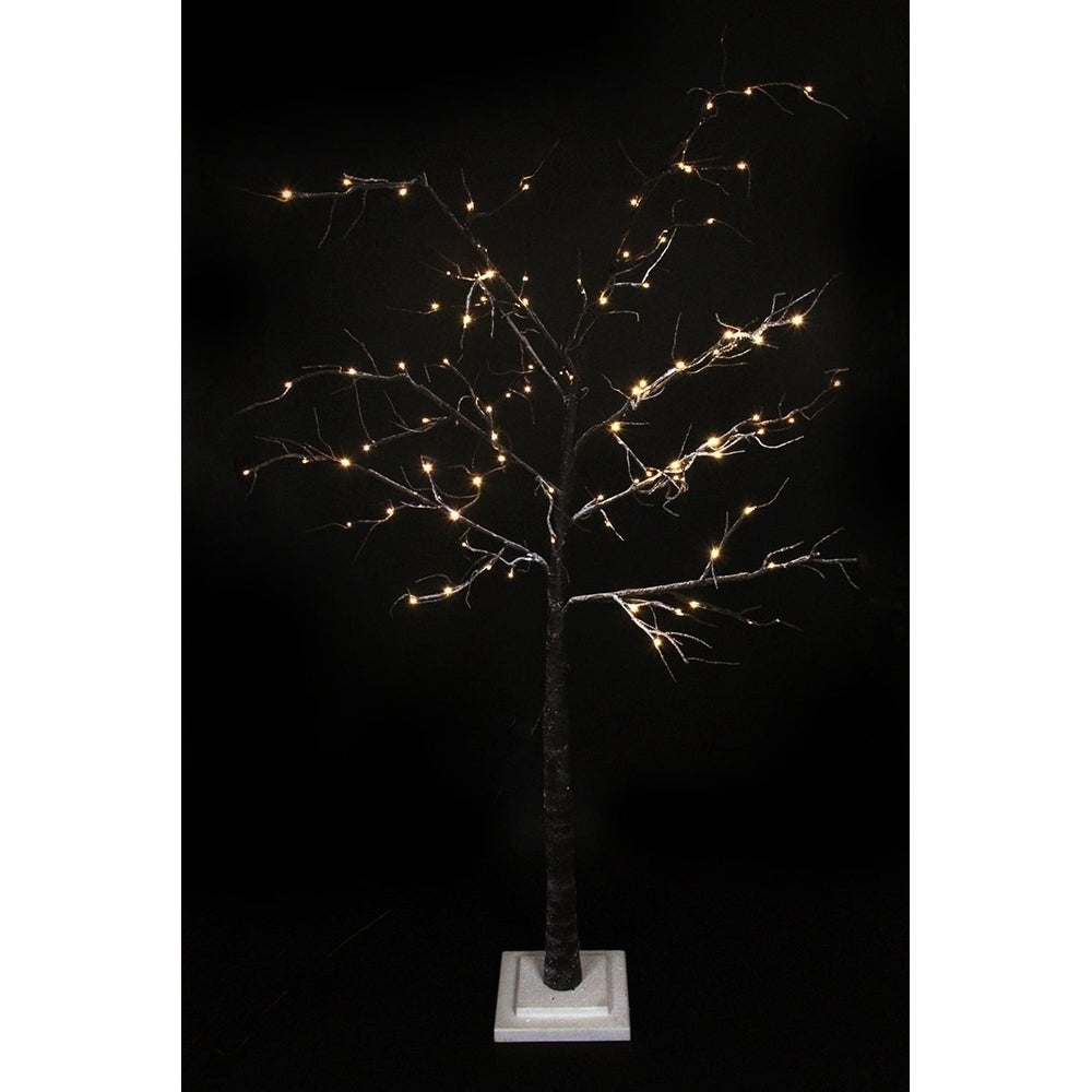 6' LED Lighted Flocked Christmas Twig Tree Outdoor Yard Art Decoration -  Warm Clear - Free Shipping Today - Overstock.com - 23539196